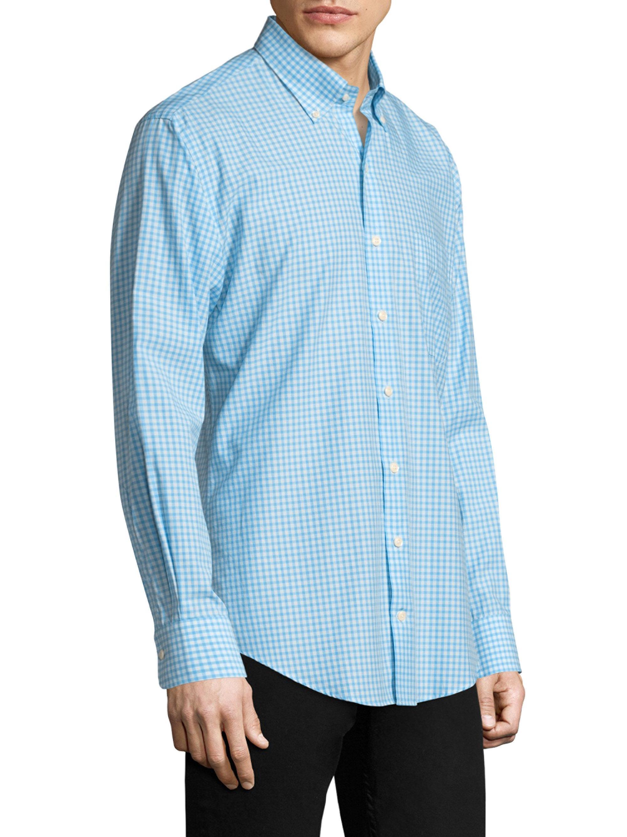 Lyst Peter Millar Checkered Cotton Button Down Shirt In