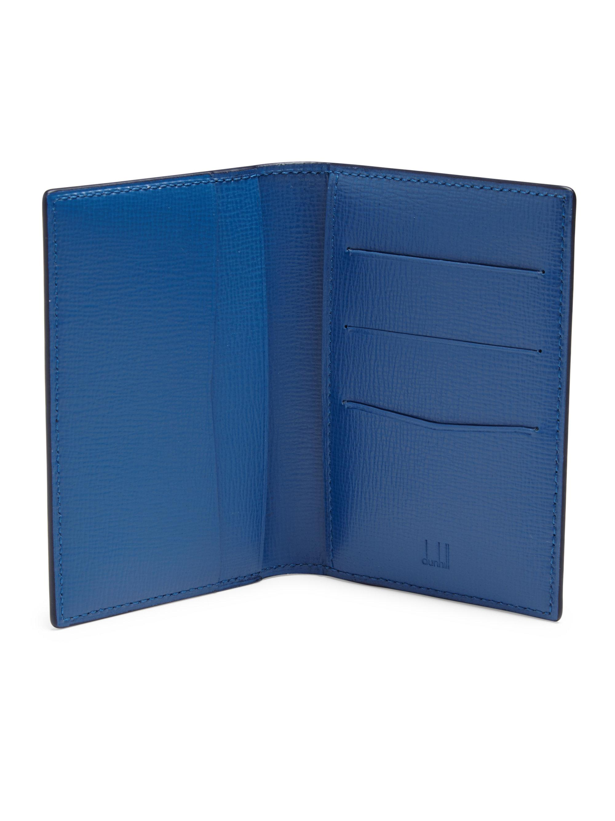 Lyst - Dunhill Bourdon Leather Business Card Case in Blue for Men