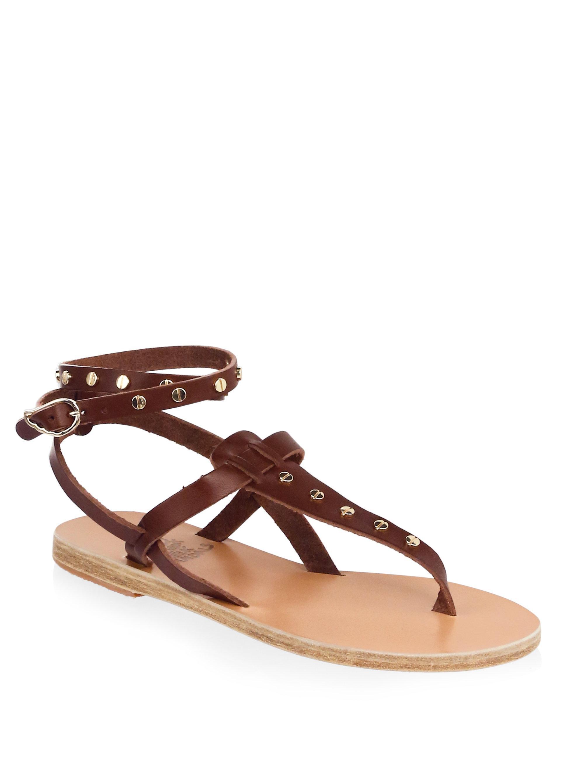 Ancient Greek Sandals Estia Nails Leather Sandals Il1nIh4
