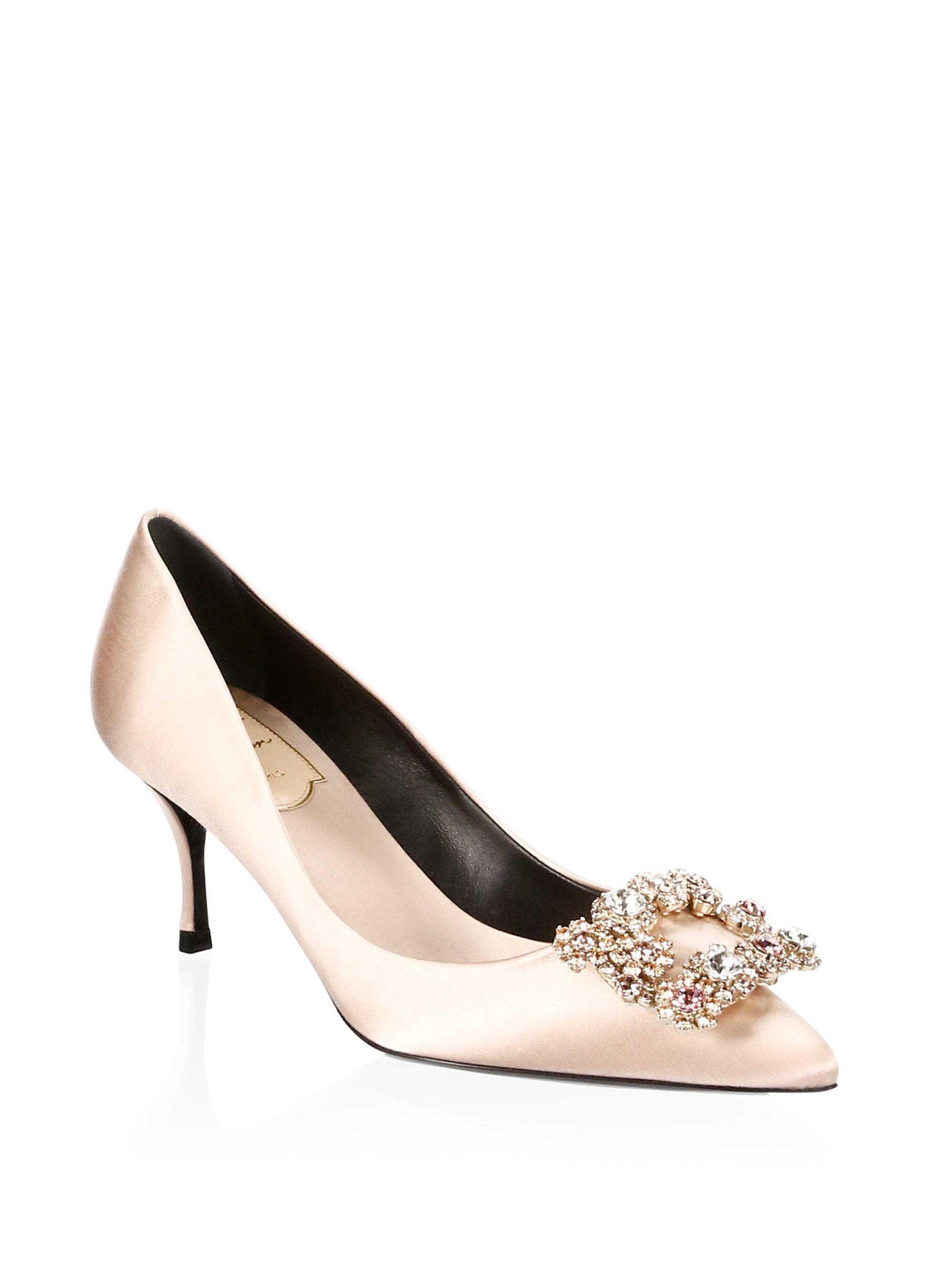 largest supplier cheap online 100% guaranteed cheap price Roger Vivier Flower Strass satin pumps clearance shop AOEgV8g