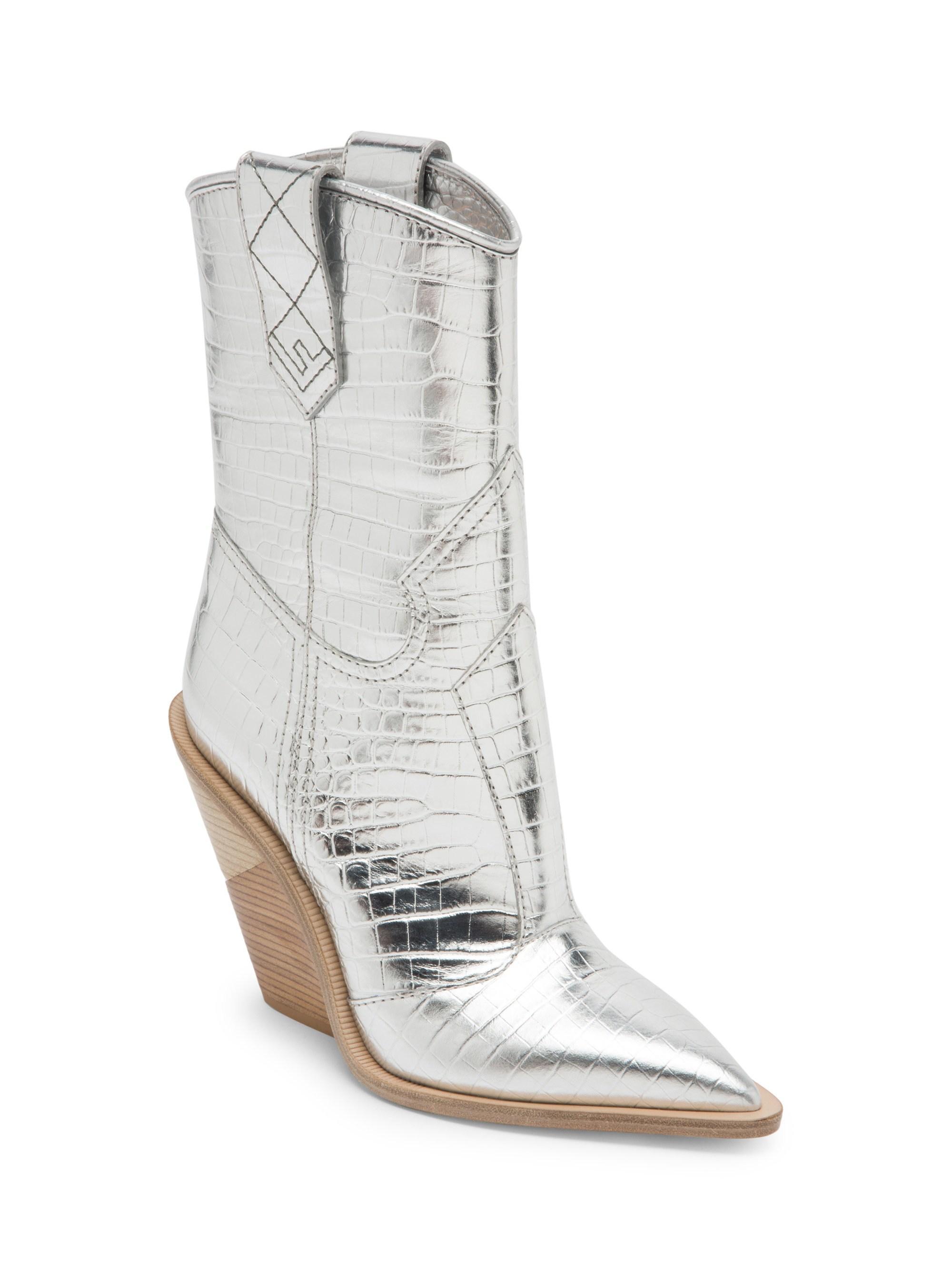 Fendi Leather Women's Metallic Cowboy