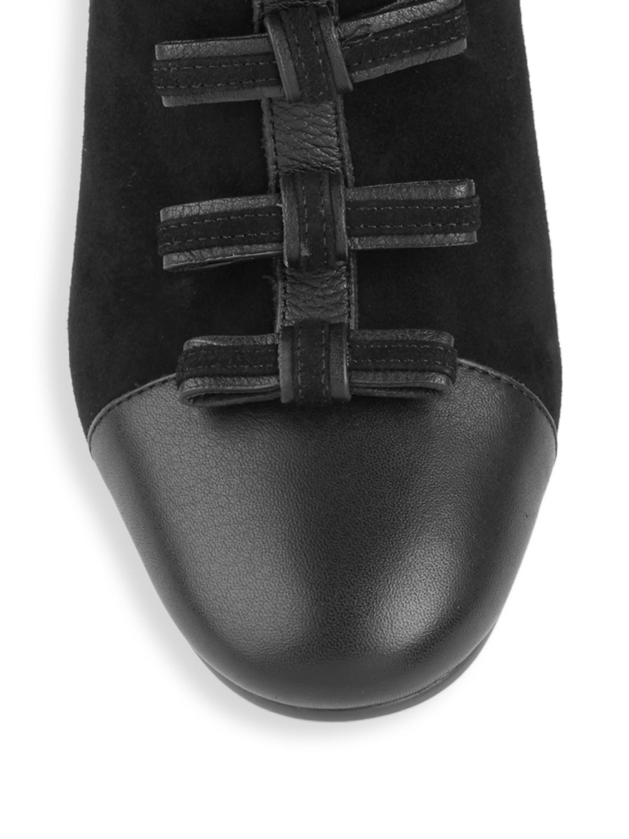 Suede Women's Gisel Bow Booties - Black