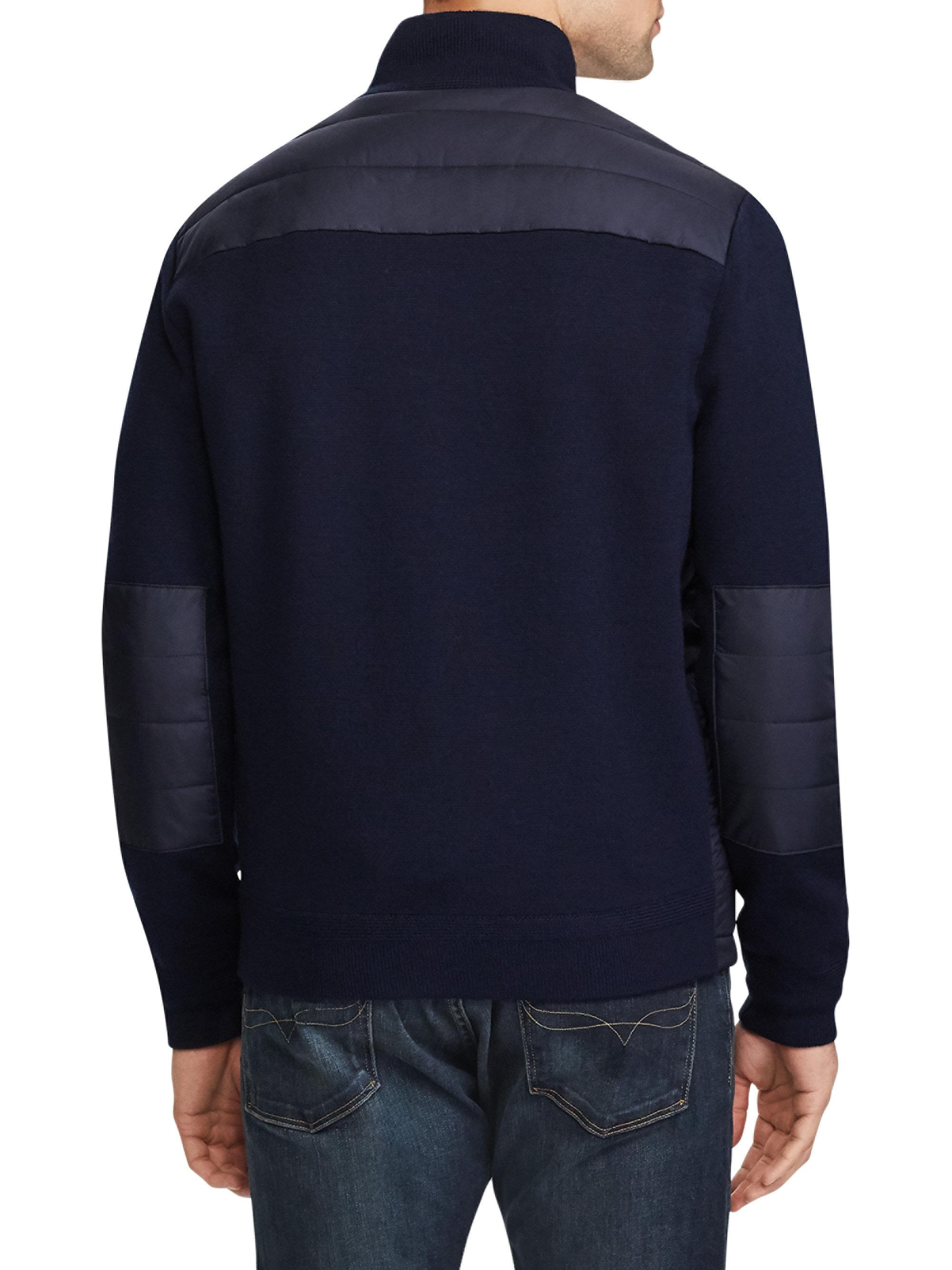 Lyst Polo Ralph Lauren Quilted Wool Jacket In Blue For Men