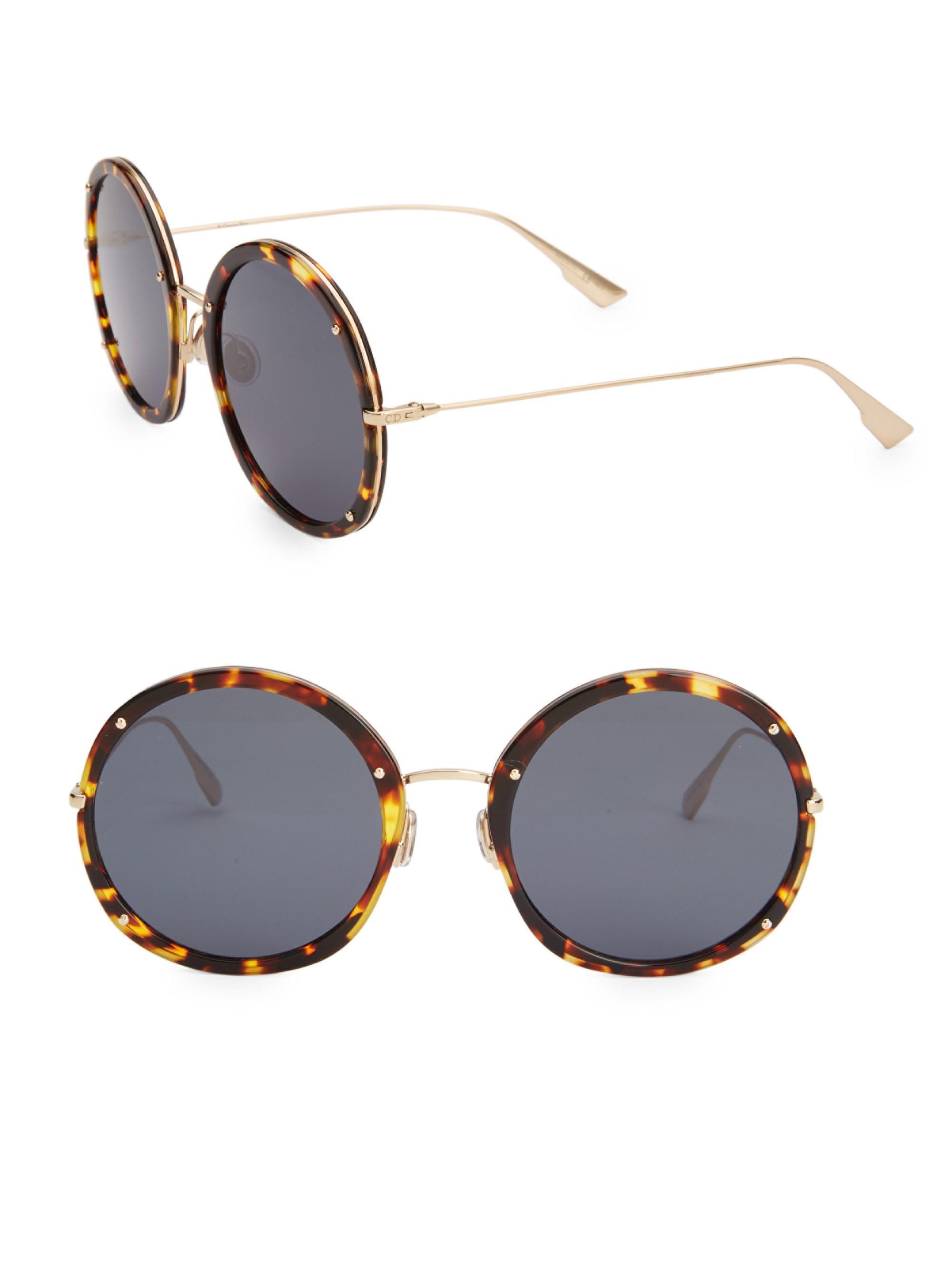 a853eee540bf Dior. Women s Hypnotic1 56mm Round Sunglasses