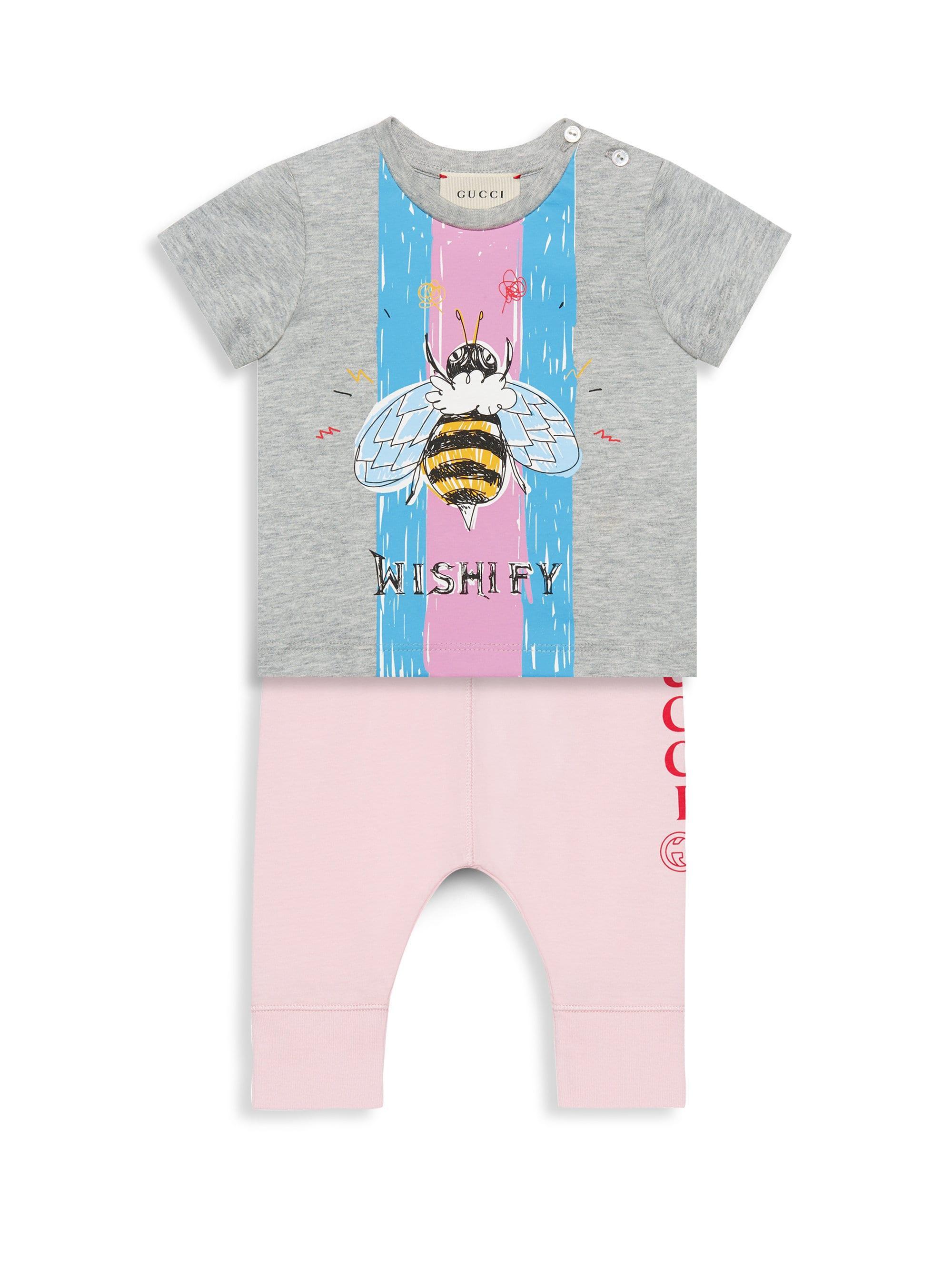 8c12b5b3a3e5 Lyst - Gucci Baby Girl's Bee T-shirt in Black