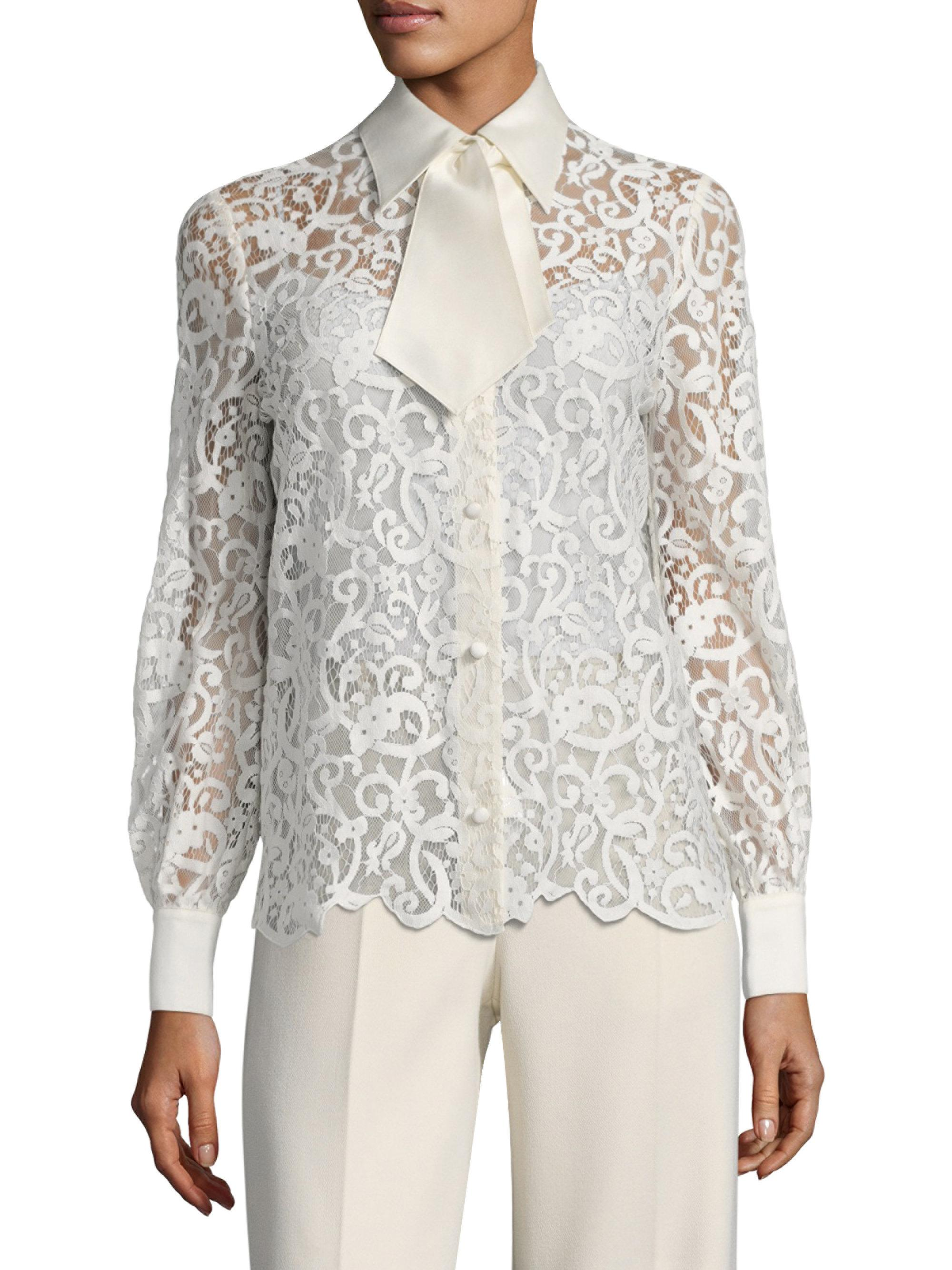 Lyst tory burch rosie button down blouse in white for Tory burch button down shirt