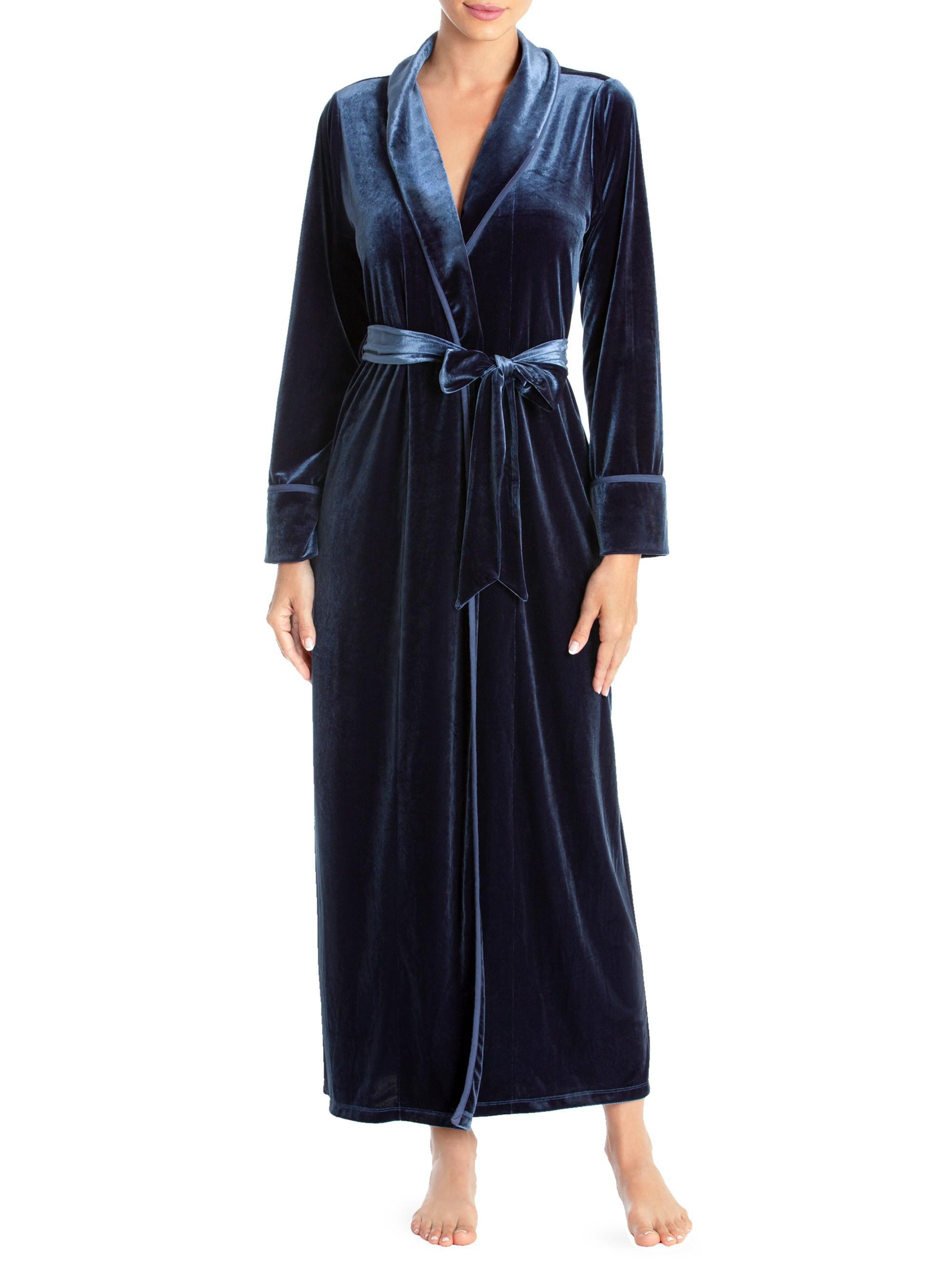 Jonquil Velvet Long Robe in Blue - Save 5.714285714285708% - Lyst 1de7964c0