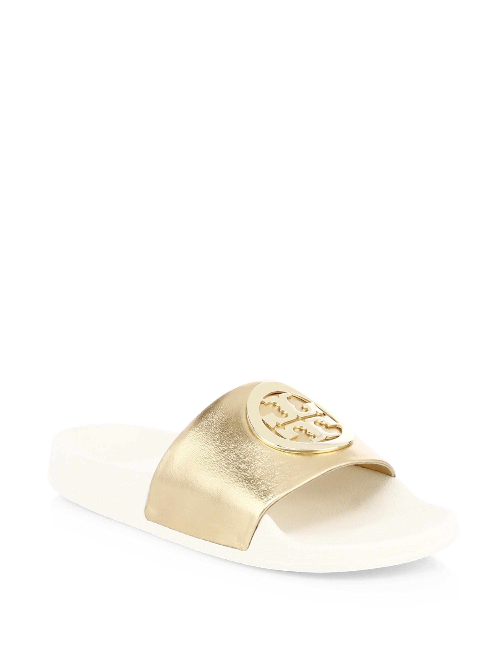 e674fe91fa60 Tory Burch Lina Slide Sandal in Metallic - Save 7.462686567164184 ...