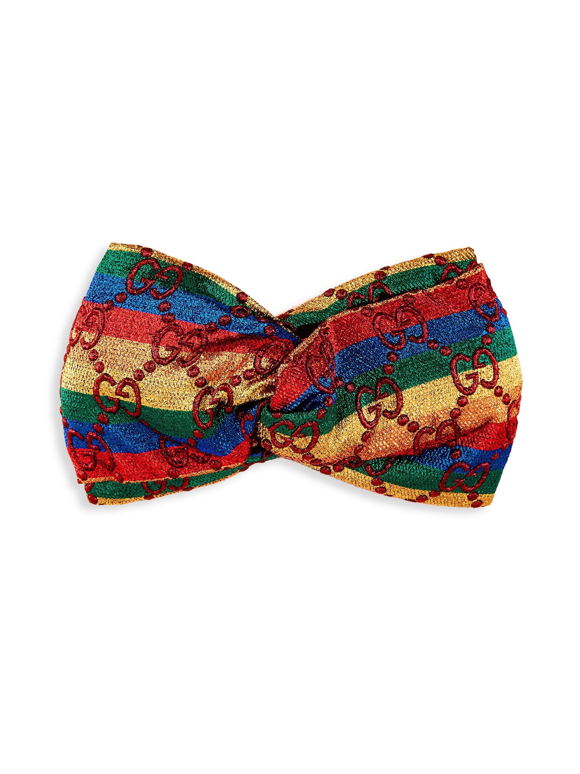 Gucci GG rainbow stripe lurex headband qG2Lu0XNlP