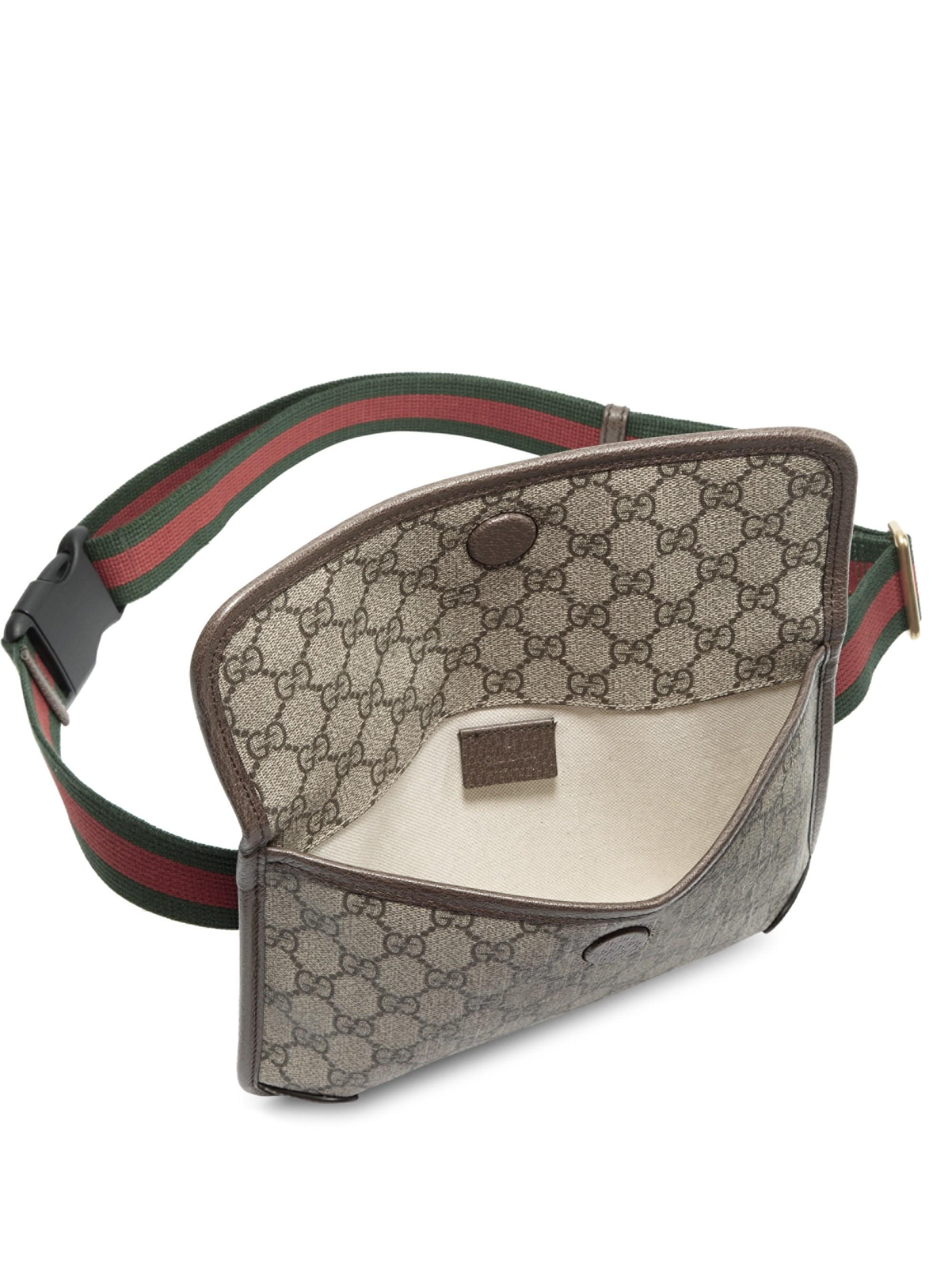 525909c47b54b1 Gucci Neo Vintage Canvas Belt Bag in Natural - Lyst