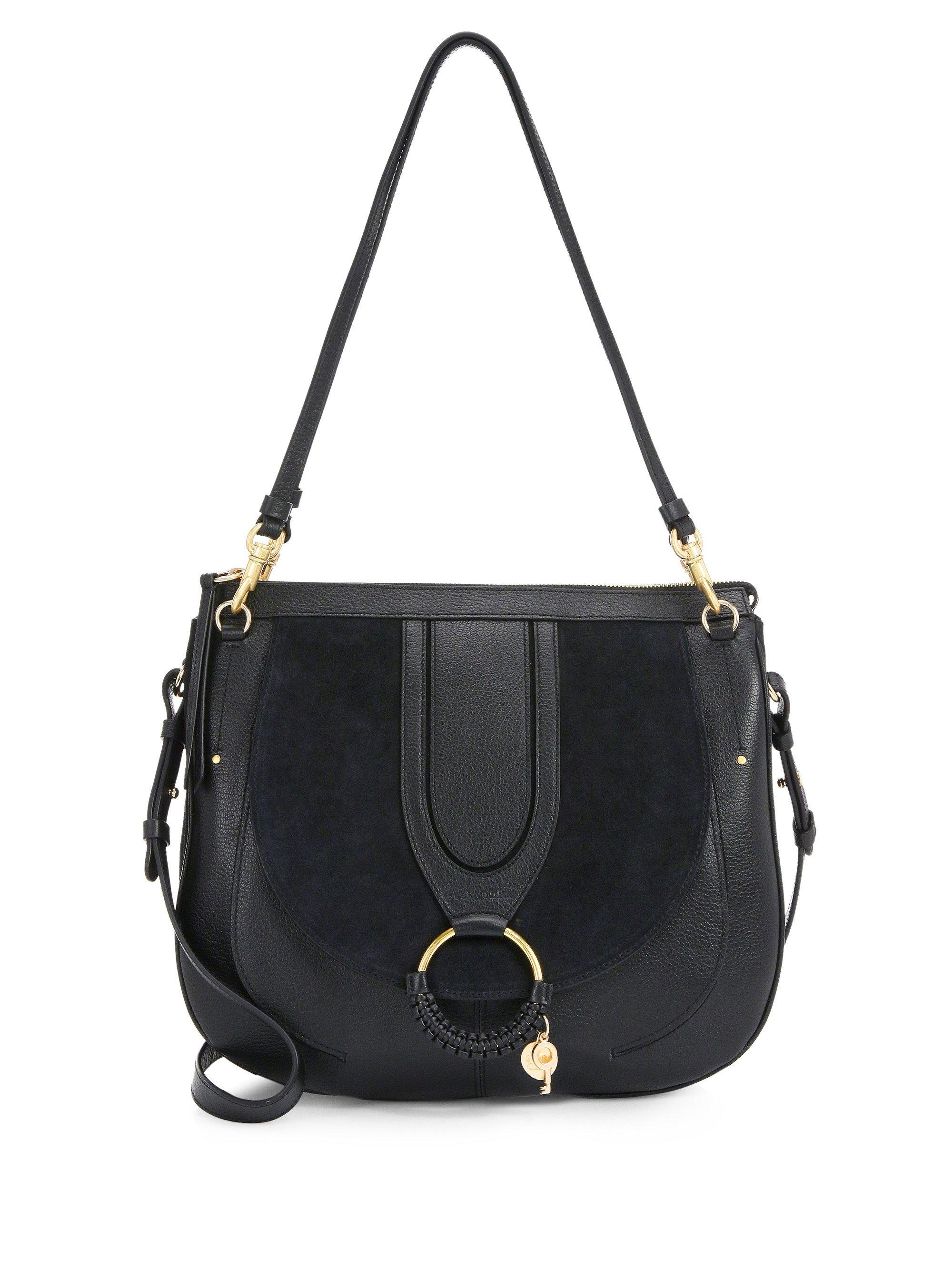 3f4b5247dc See By Chloé Hana Suede Leather Tote in Black - Lyst