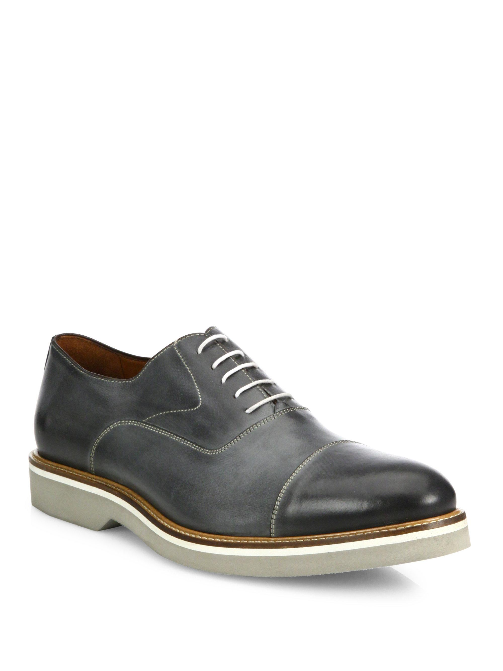 Saks Fifth Avenue COLLECTION Burnished Captoe Oxfords