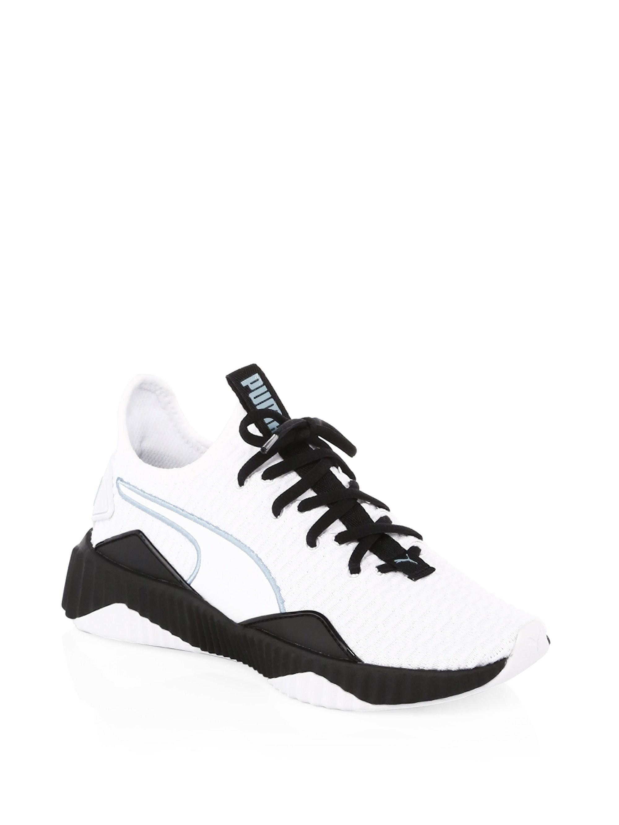 Puma Defy Wings Textured Stripe Sneakers qYiDhA