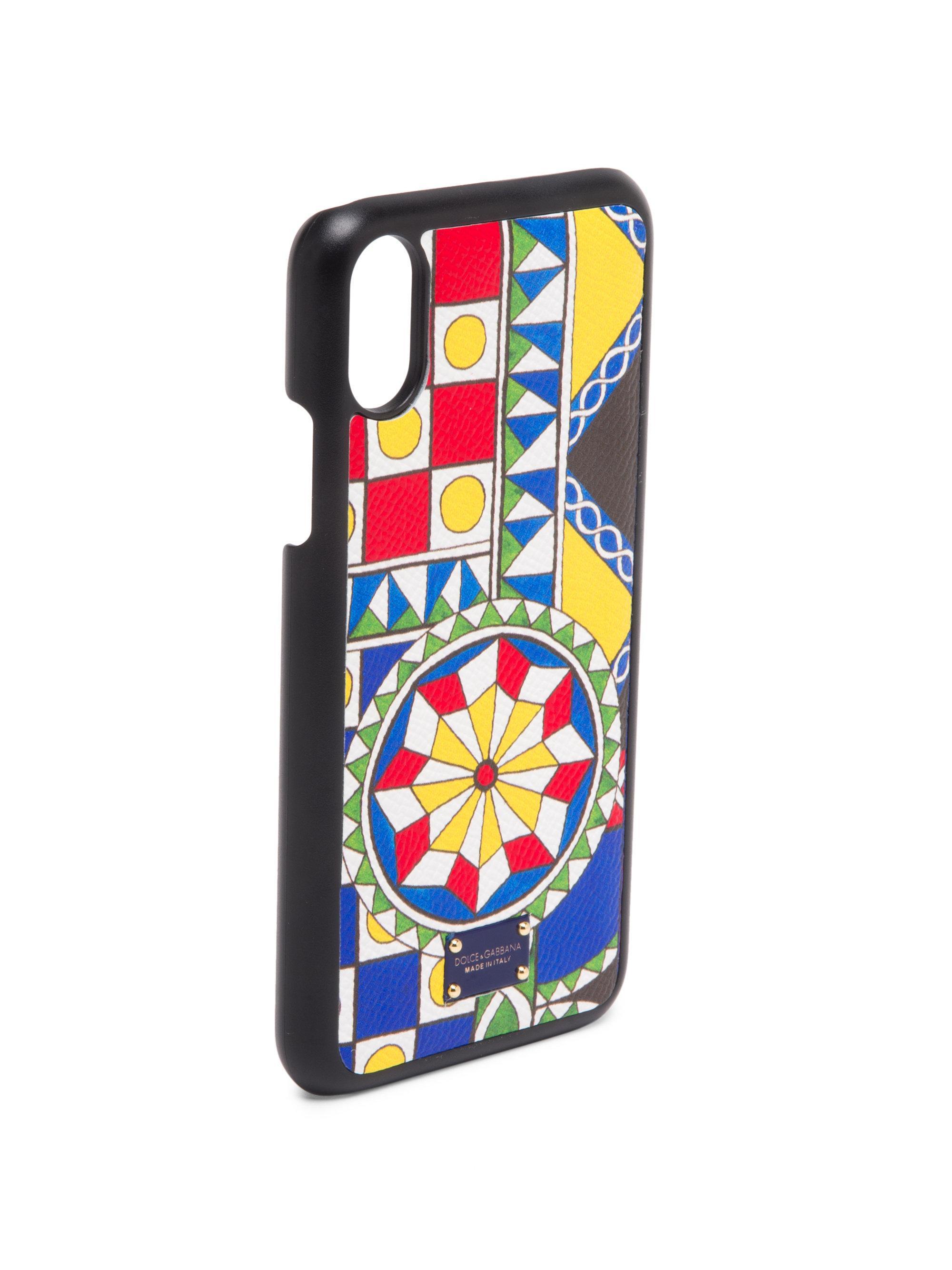 the latest e1758 5bcba Dolce & Gabbana Multicolor Iphone X Dauphine Mosaic Case