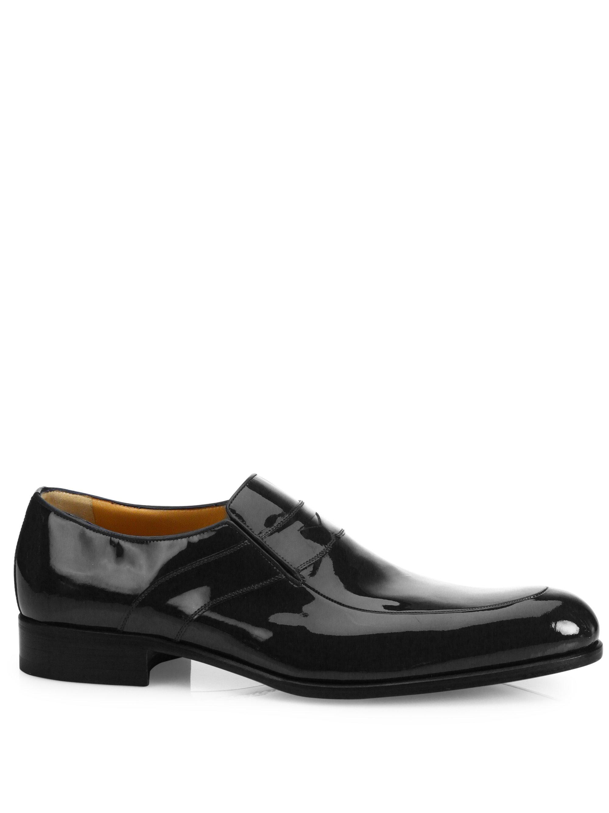 A.TESTONISlip-On Patent Leather Shoes tu6tmnQ5
