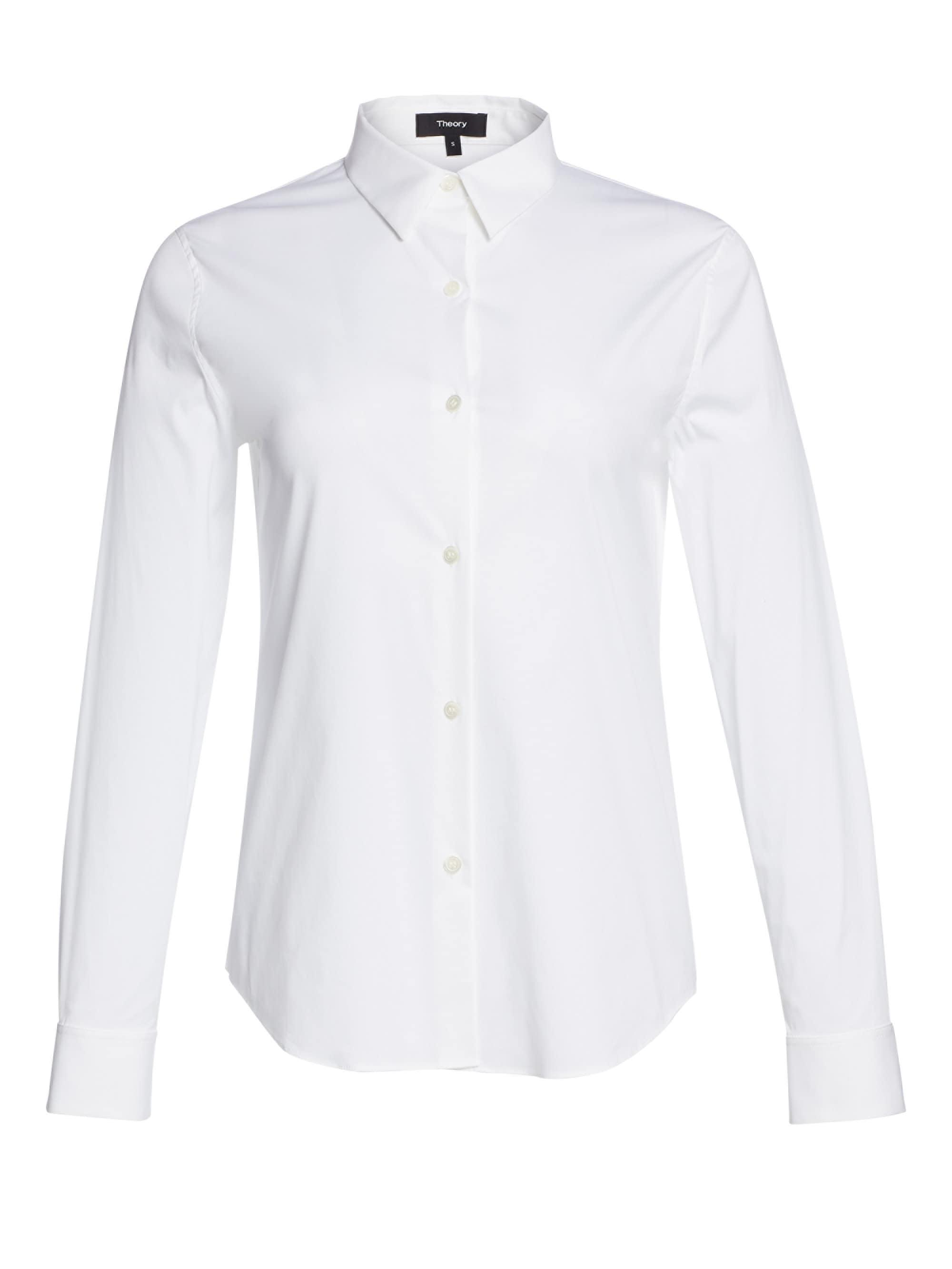 888efb10ec7d74 Theory Tenia Luxe Cotton Shirt in White - Lyst