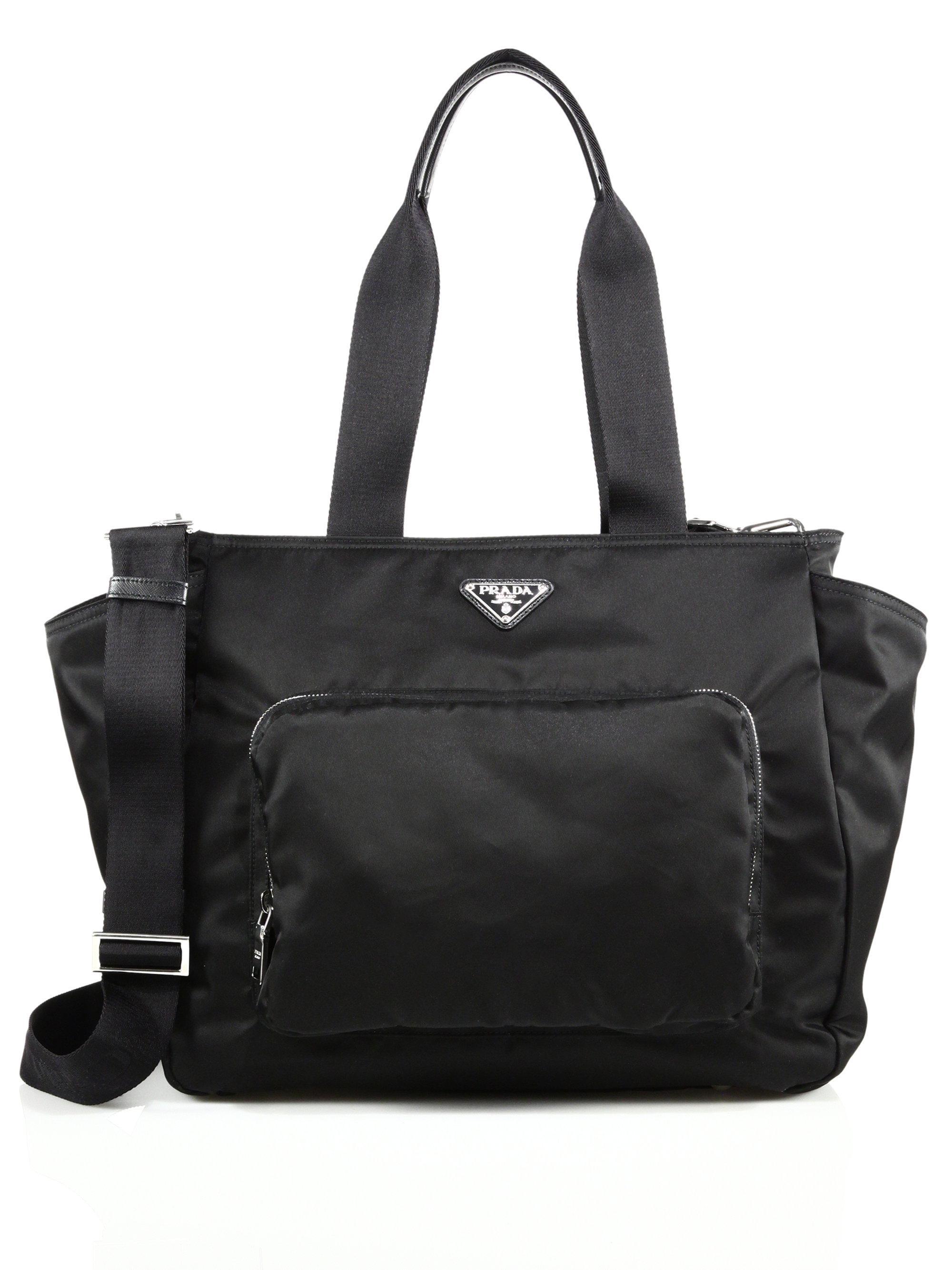 Prada Women S Black Nylon Diaper Bag