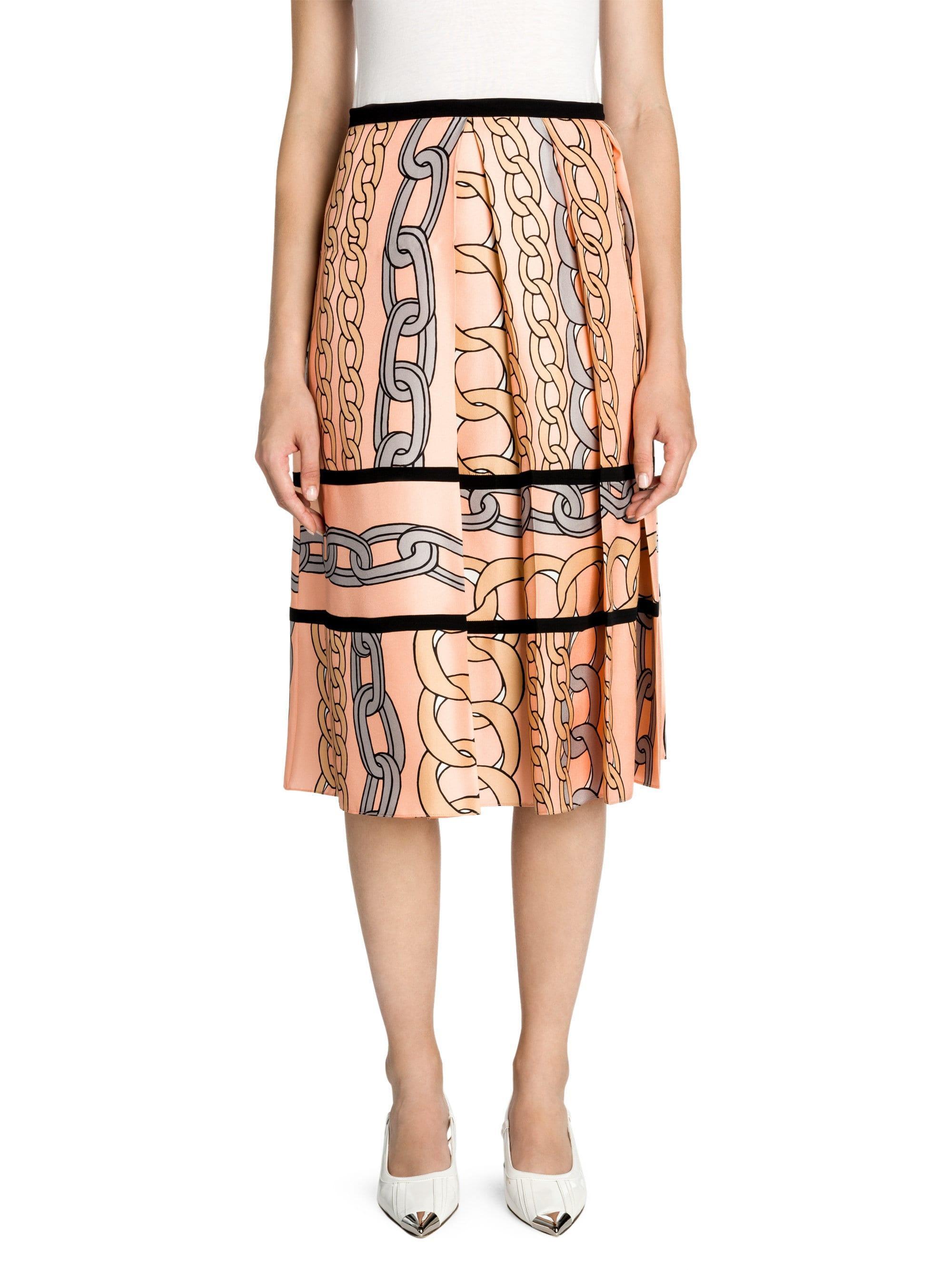 0051056cc6 Marni. Women's Silk Twill Pleated A-line Skirt