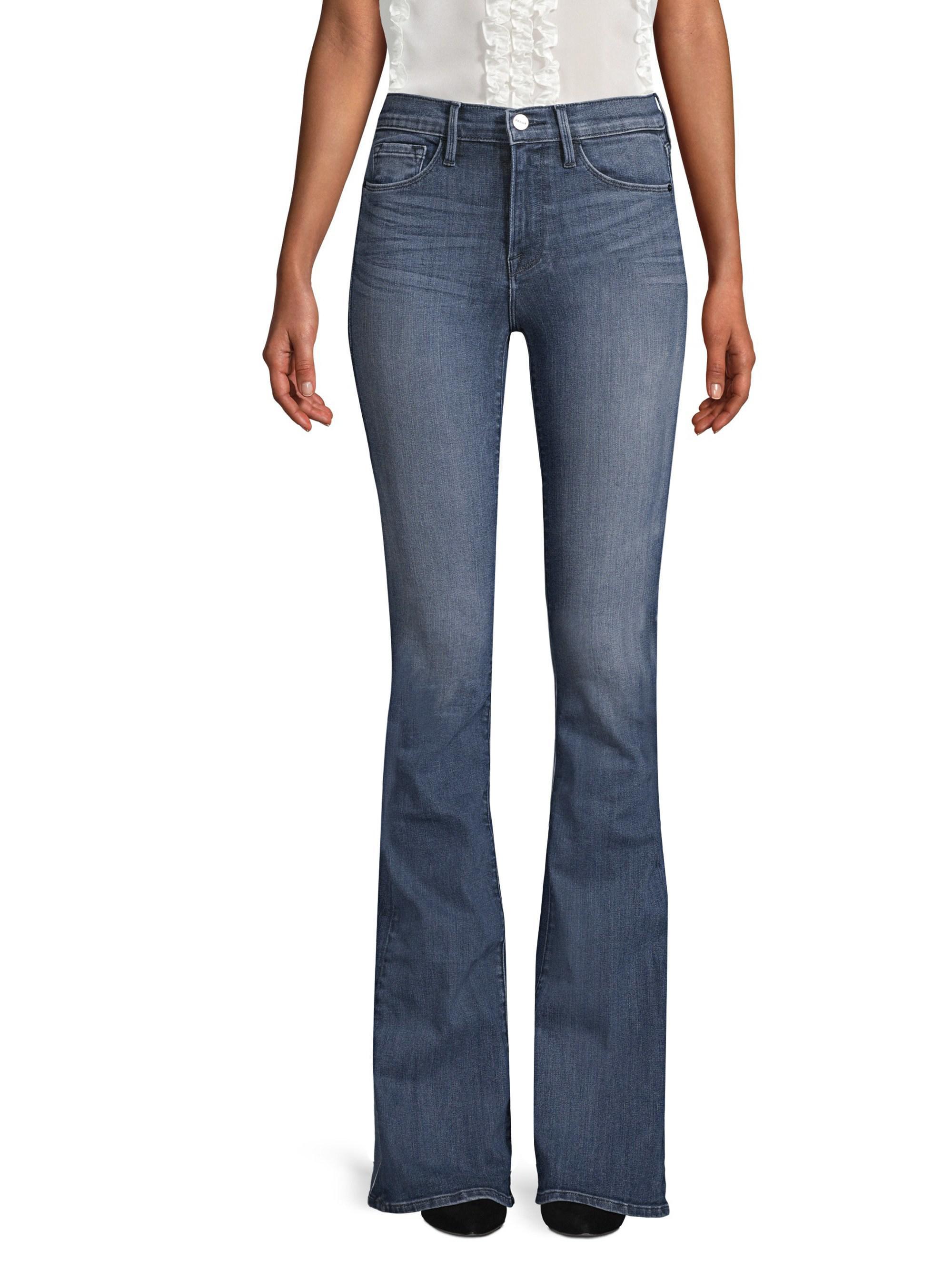 Lyst - Frame Forever Karlie Flare Jeans in Blue