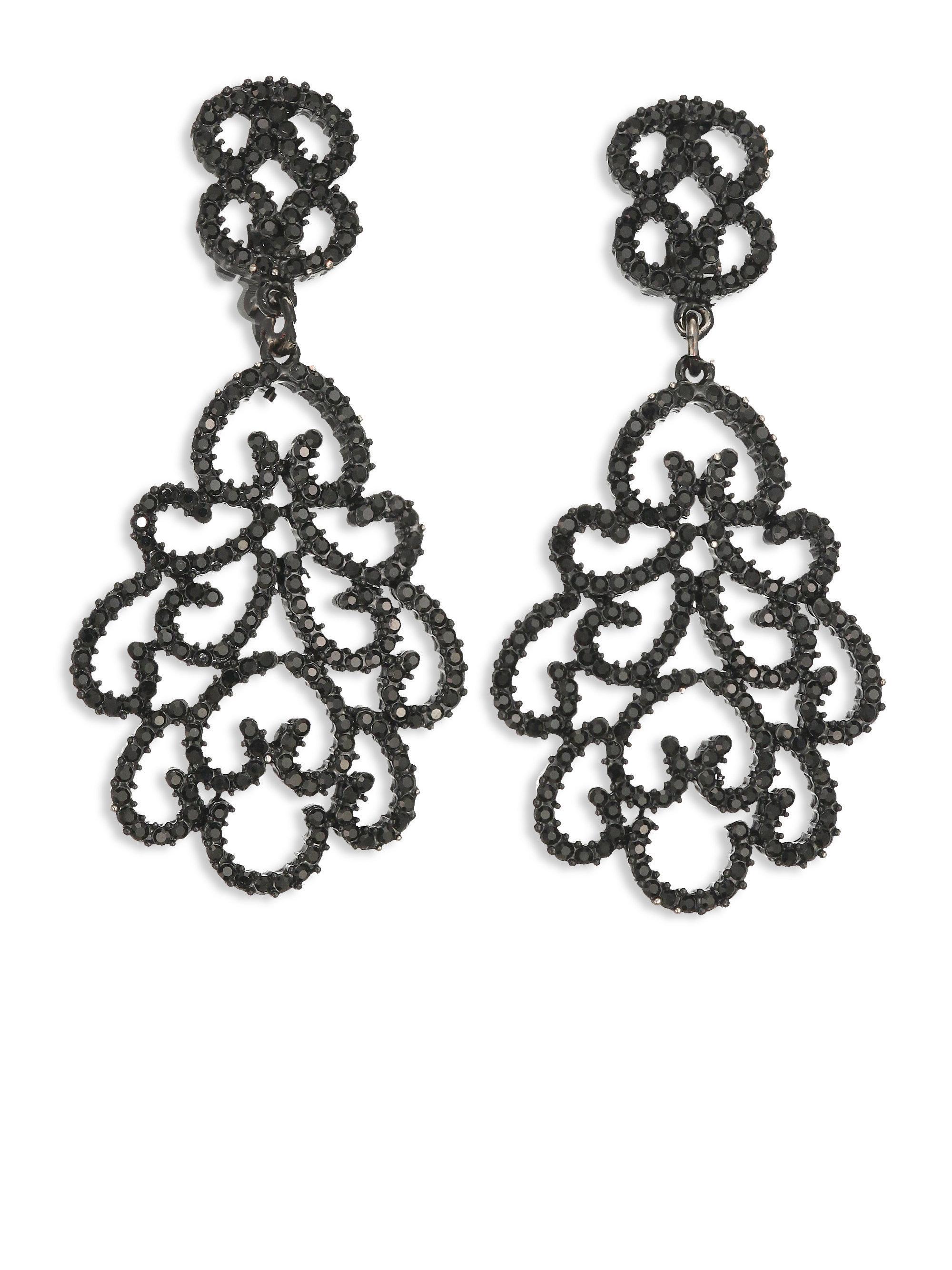 Kenneth Jay Lane Kenneth Jay Lane Woman Silver-tone Crystal Clip Earrings Silver Size avAWx2XLkD