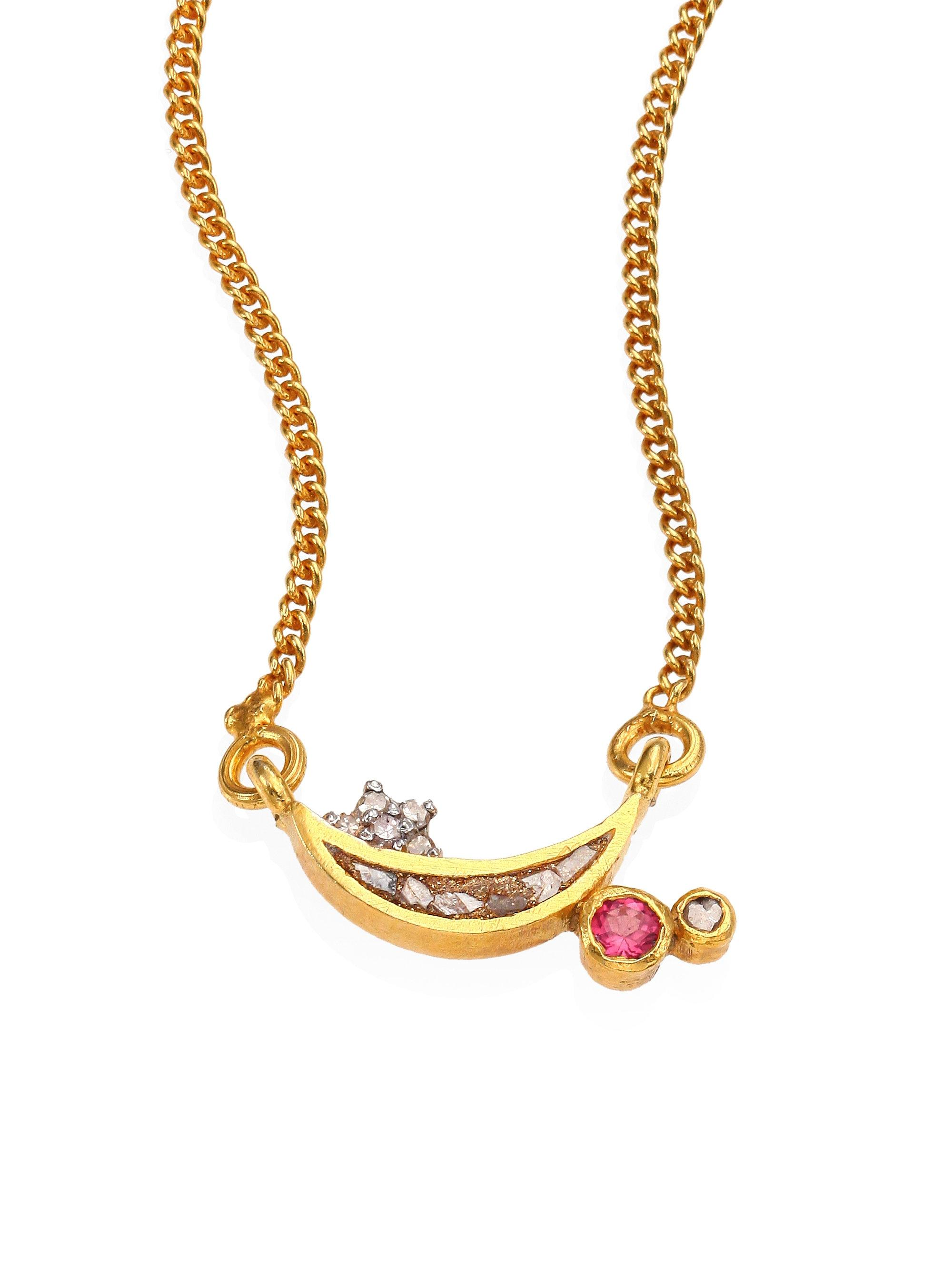 valeria design the filled wire necklace pink bar in wrapped tourmaline gemstone pendant gold