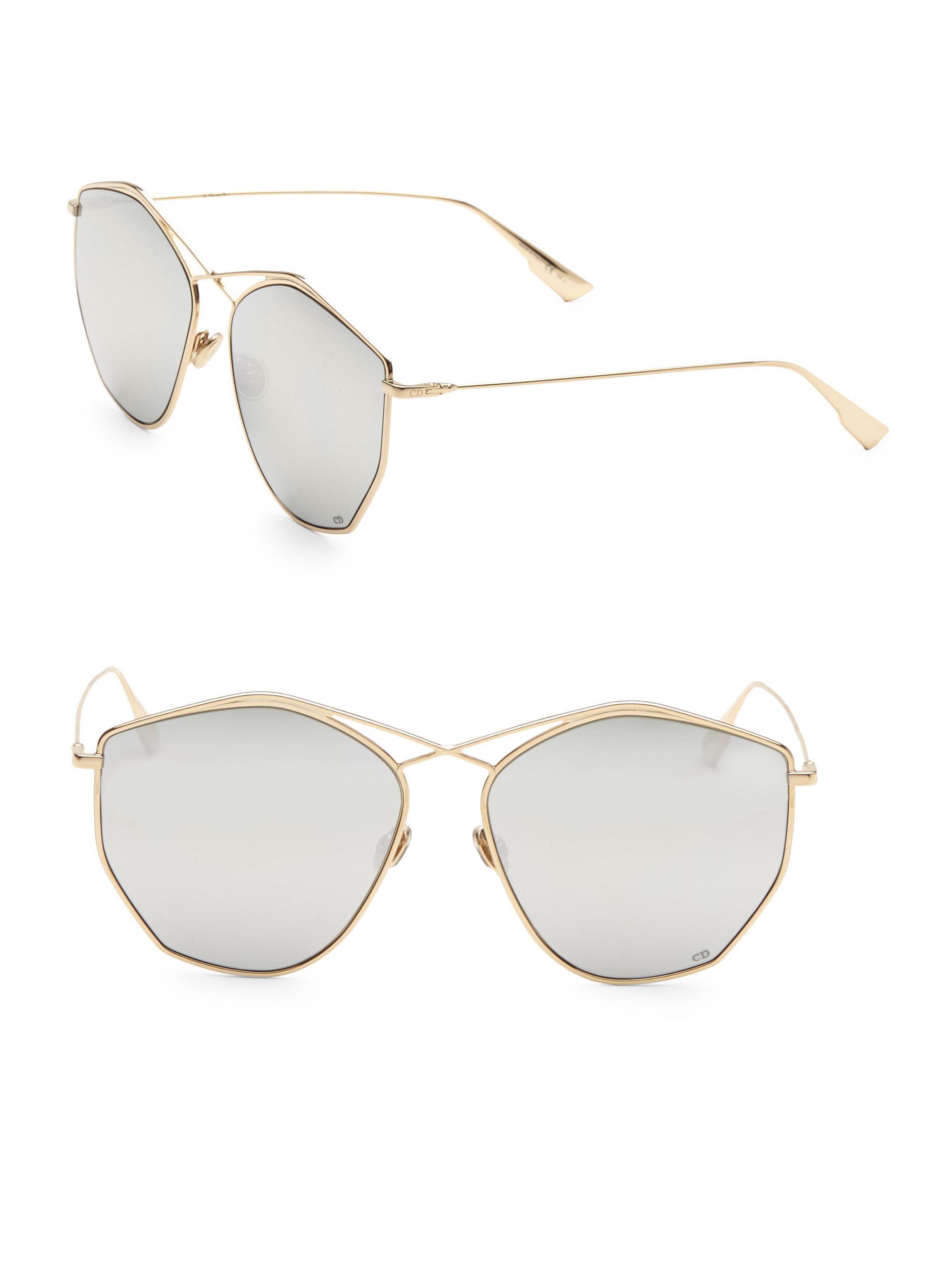 da5bf51df33 Dior - Metallic Stellaire 59mm Round Sunglasses - Lyst. View Fullscreen