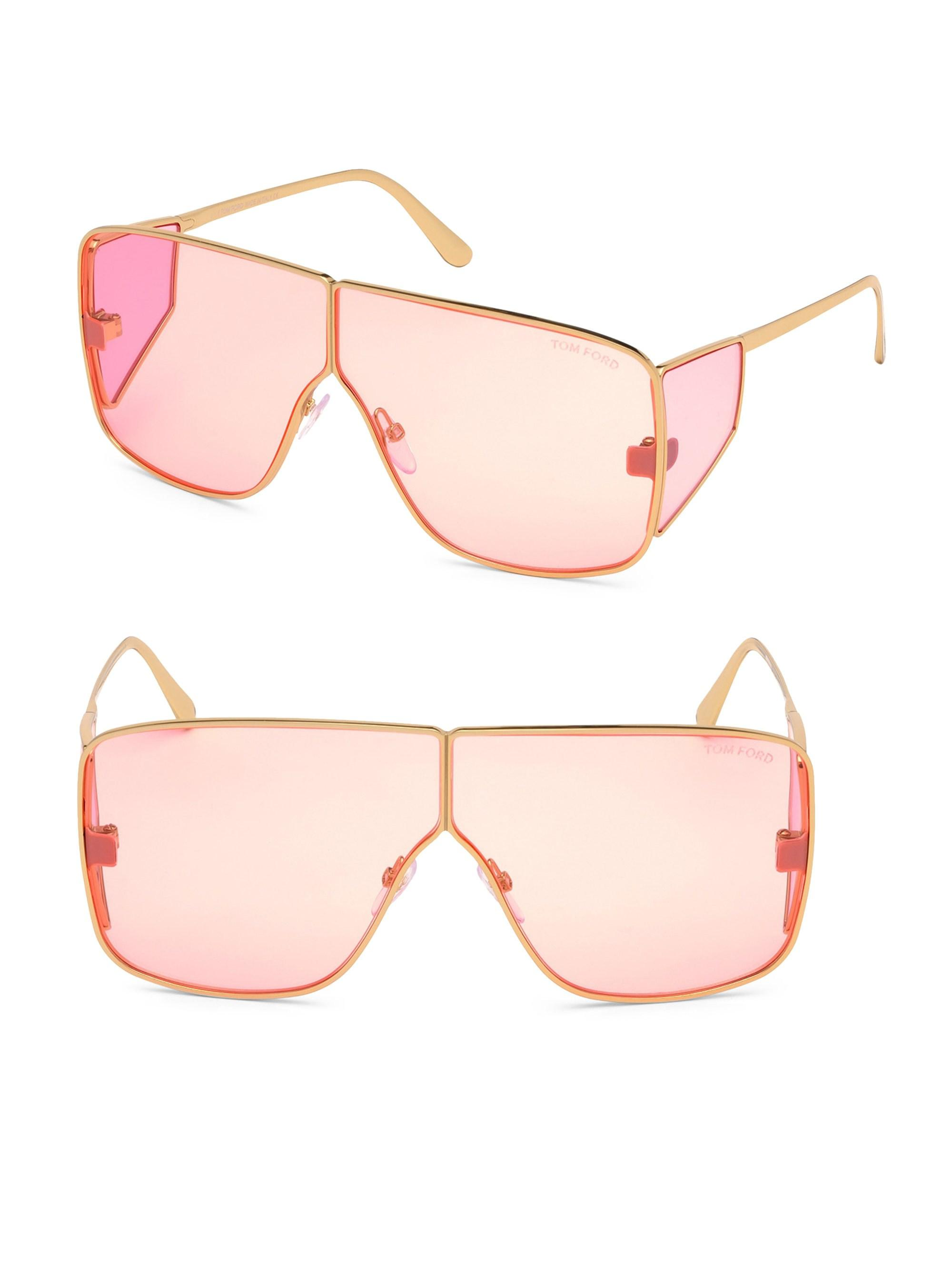 850a7865aa3cb Tom Ford Spectator 72mm Shield Sunglasses in Pink - Lyst