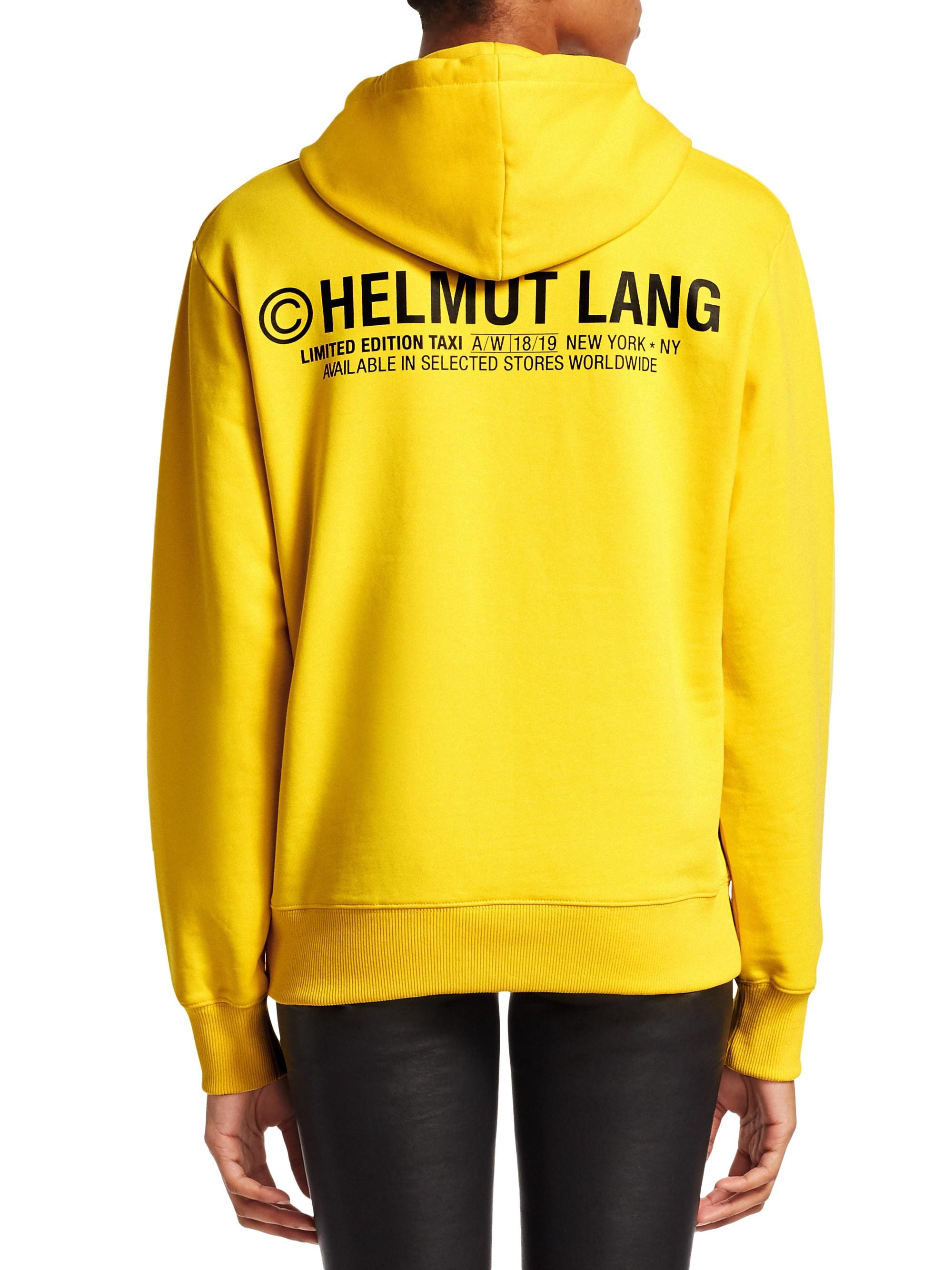 88ffbd740 Helmut Lang Women's Taxi Hoodie - Yellow - Size Xs in Yellow - Lyst