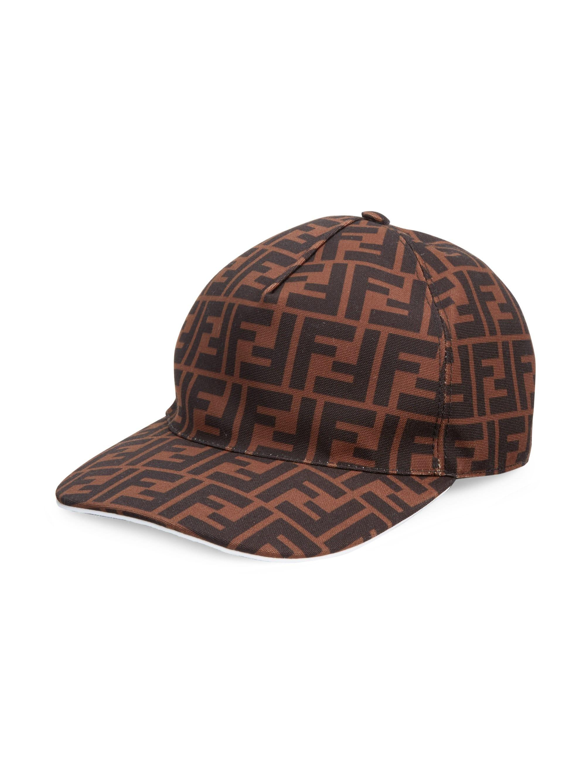 eaee47893fe Lyst - Fendi Logo Baseball Cap in Brown for Men