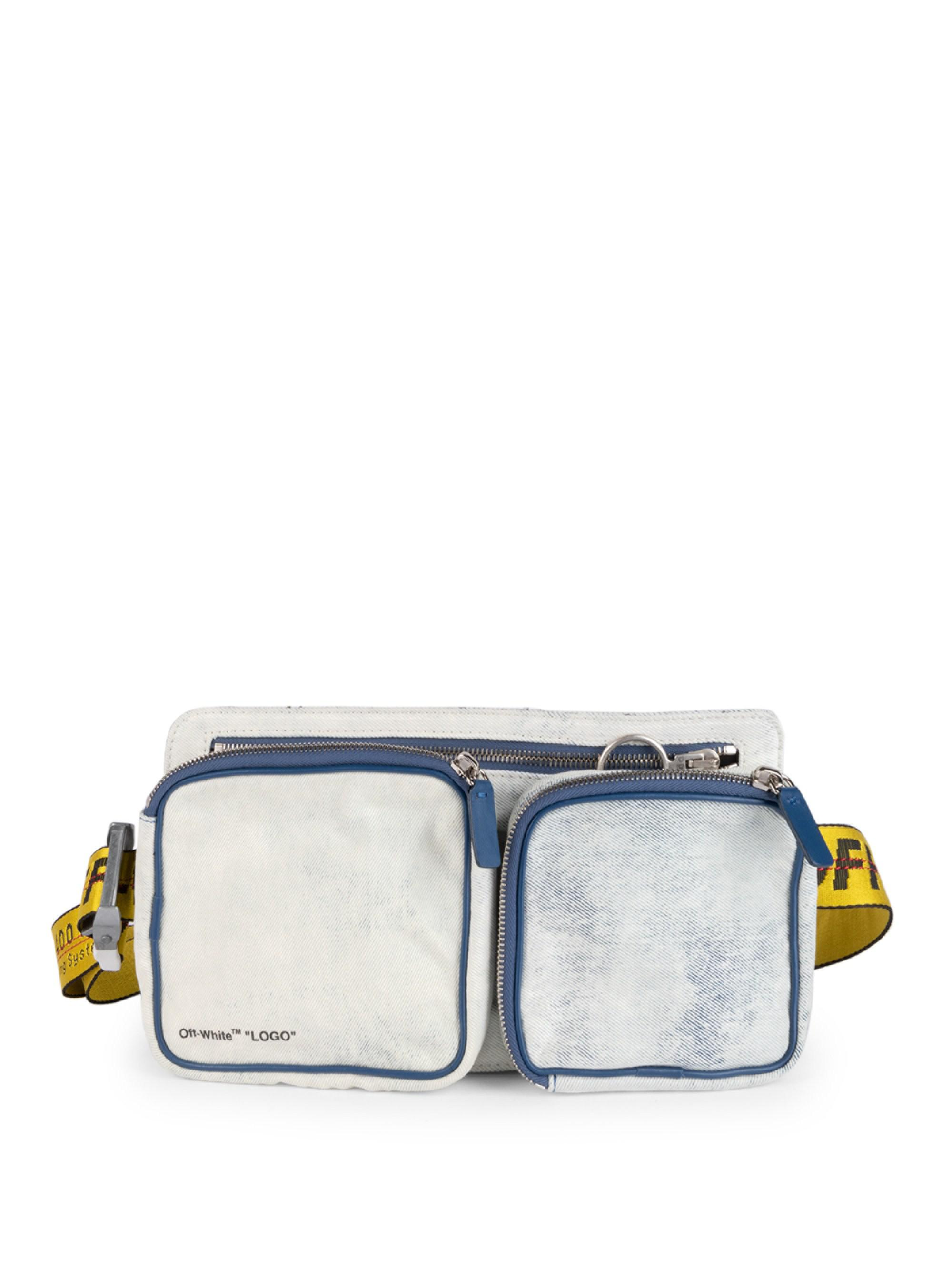 80dca2e7383e2 Off-White c/o Virgil Abloh Blue Bleached Denim Belt Bag for men. View  fullscreen