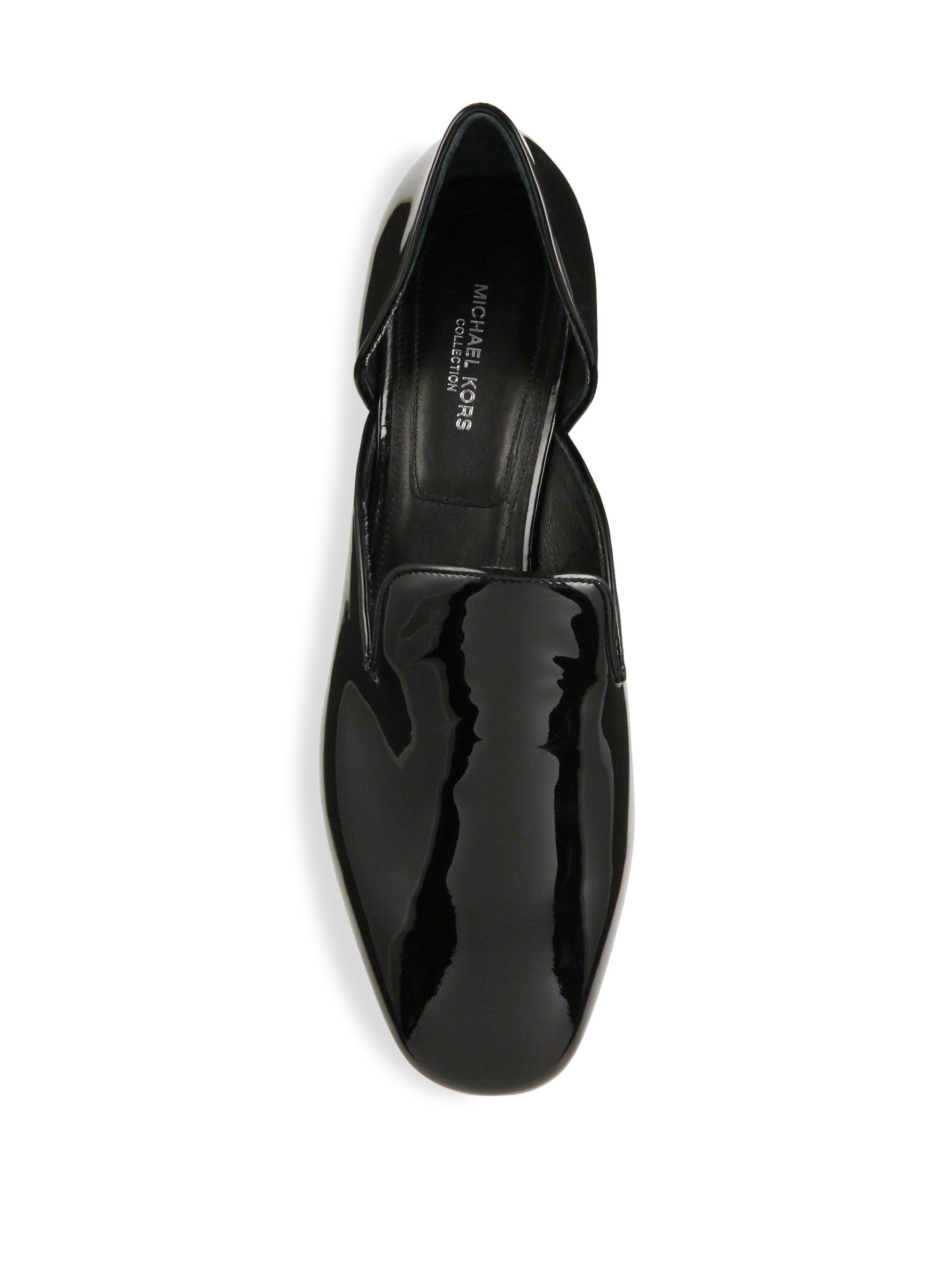 Lyst Michael Kors Fielding Patent Leather Loafers In Black
