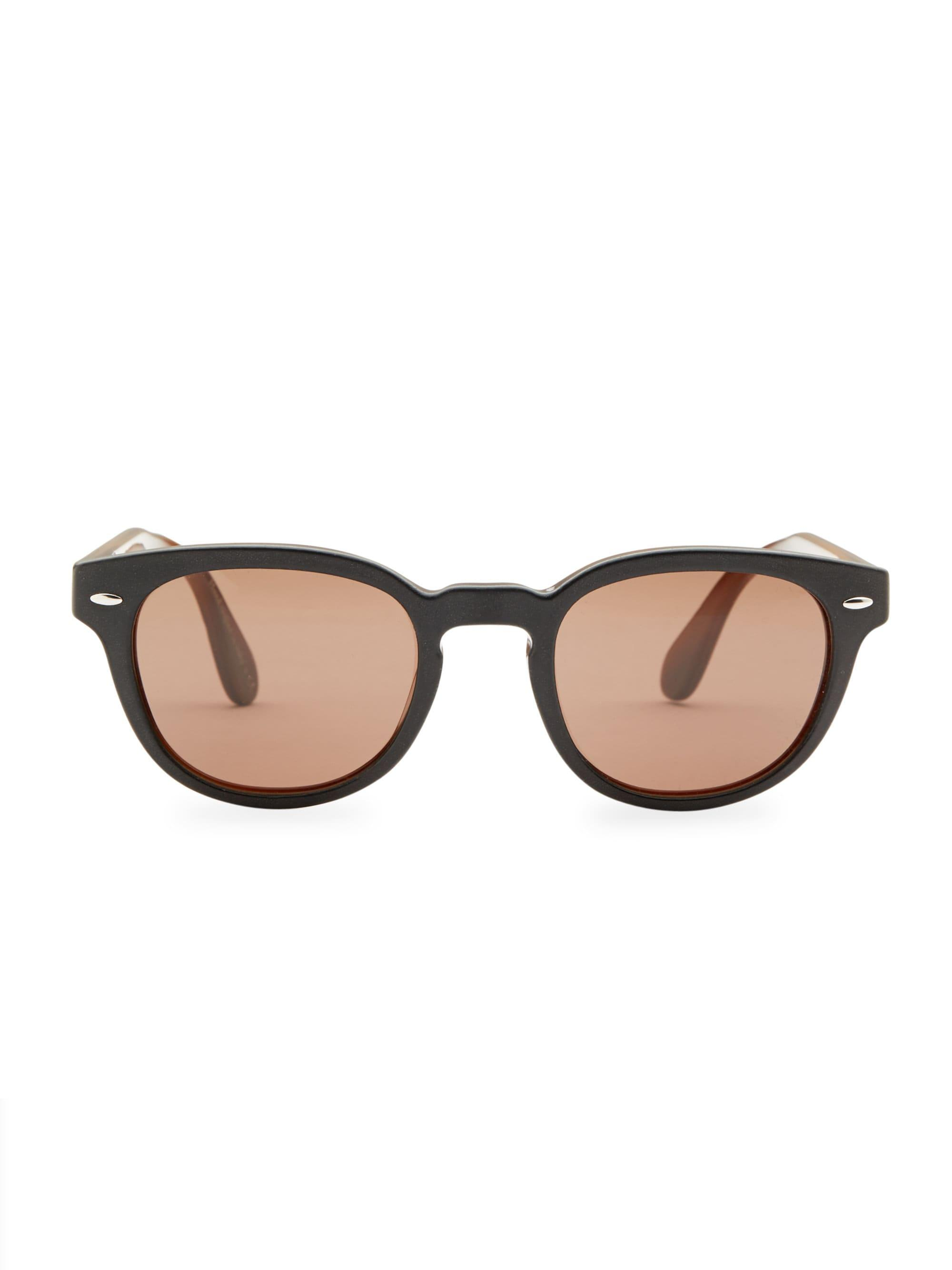 1145b2ae531b Lyst - Oliver Peoples Men s Sheldrake Leather 47mm Sunglasses ...