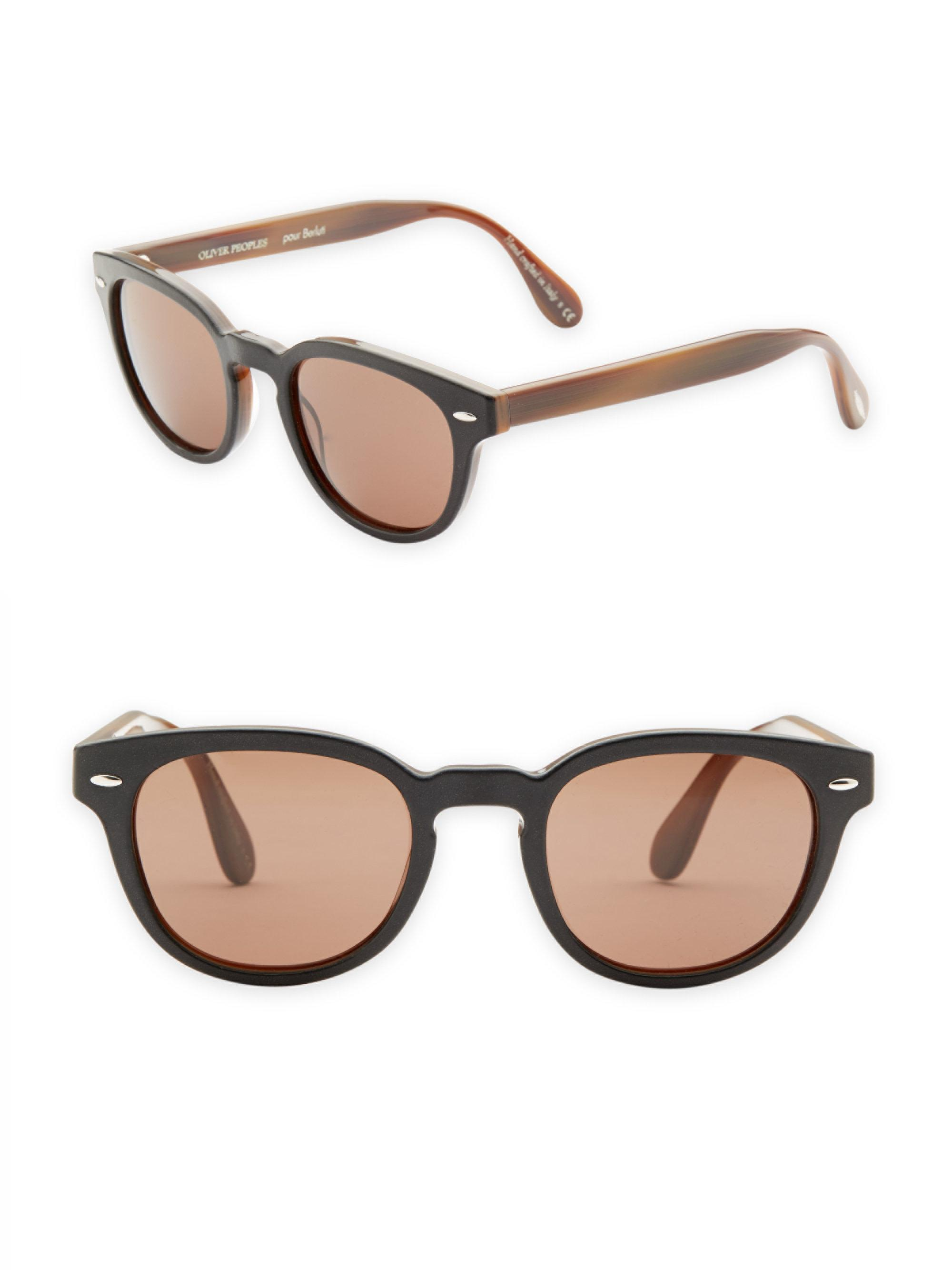 1ba0616c34a Oliver Peoples - Brown Sheldrake Leather 47mm Sunglasses - Lyst. View  fullscreen