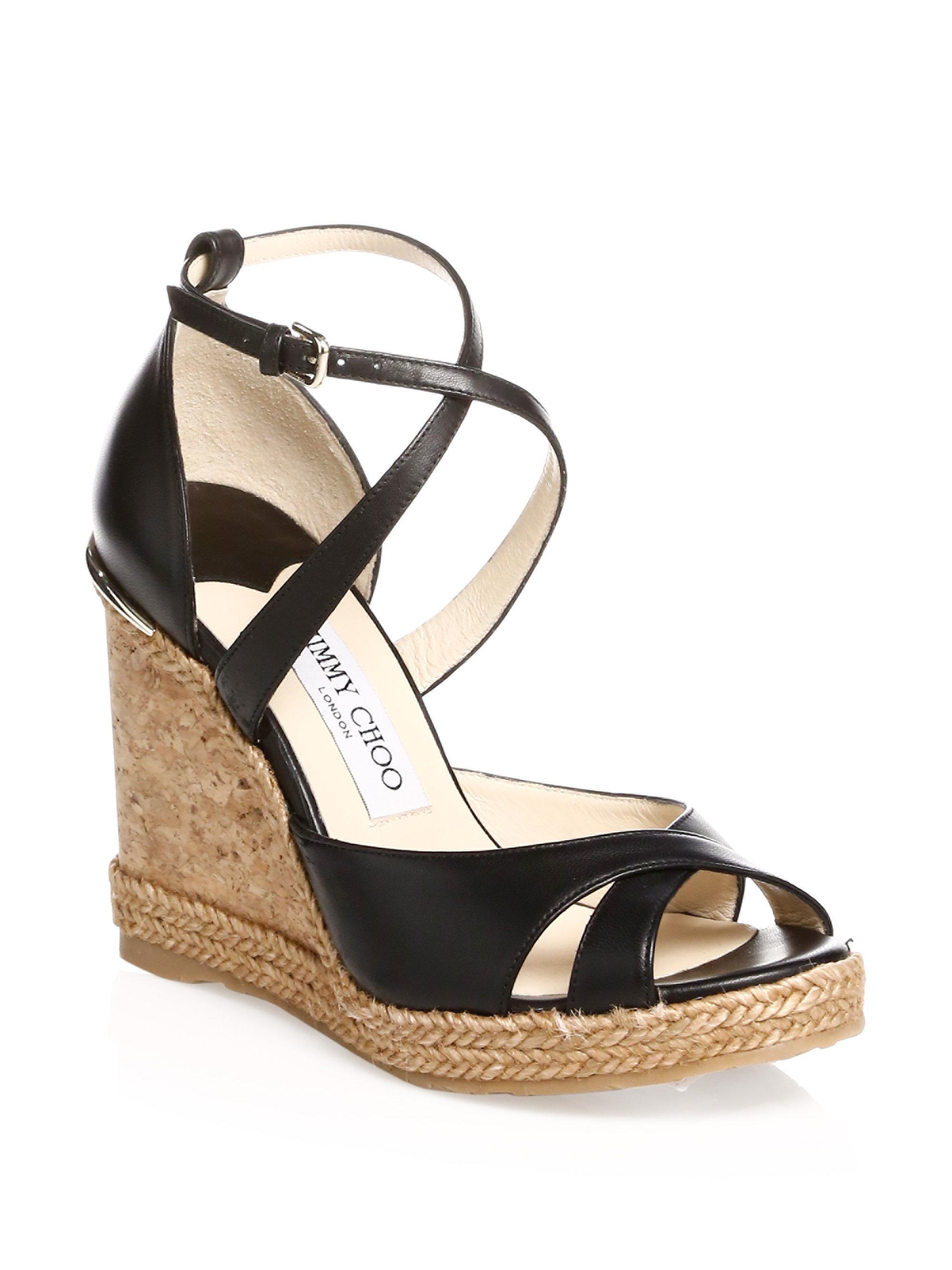 Alanah 80 leather wedge sandals Jimmy Choo London Clearance Discount DuRUd8