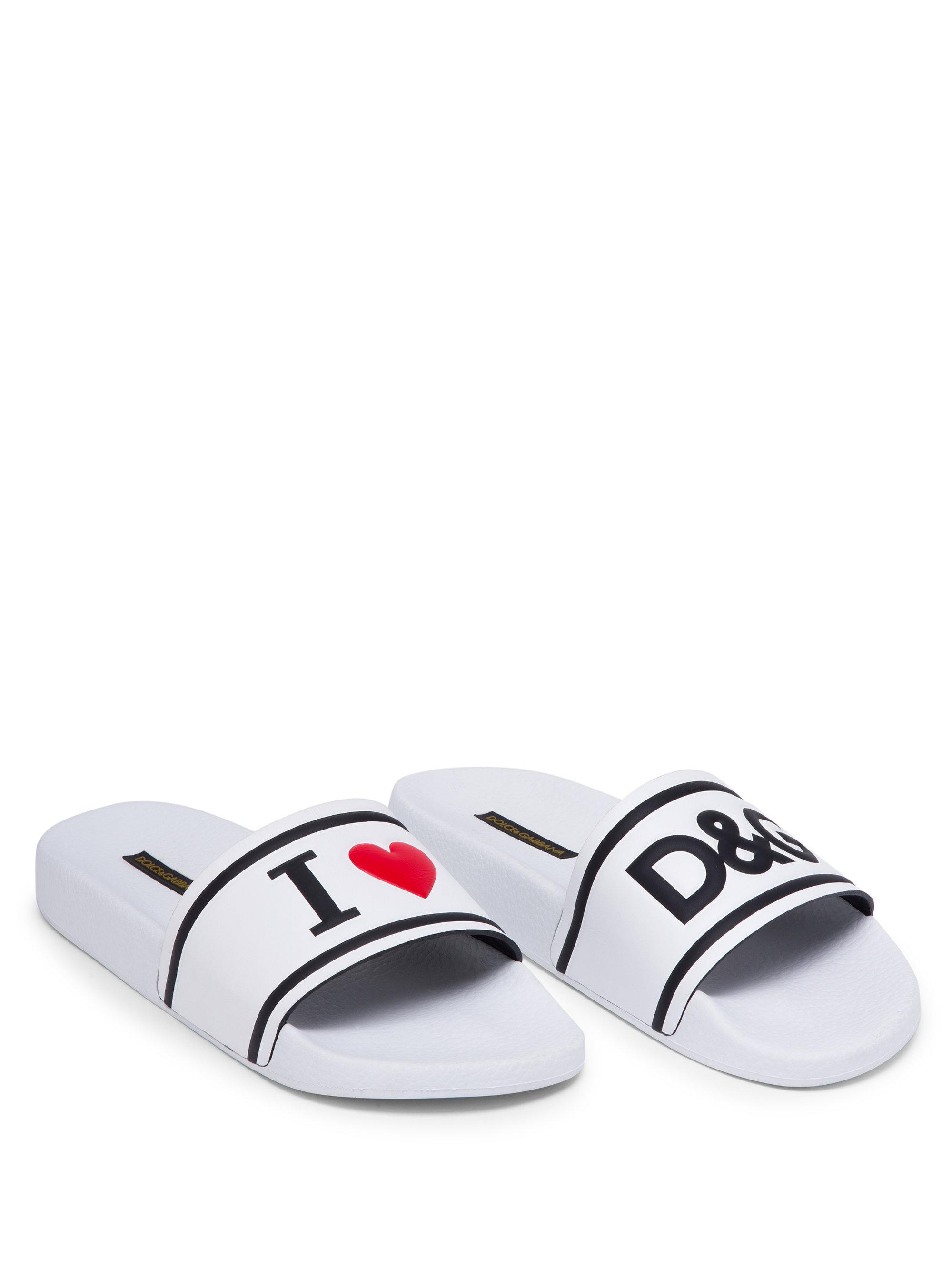 Dolce & Gabbana Love Leather Slides se7VaSpAm