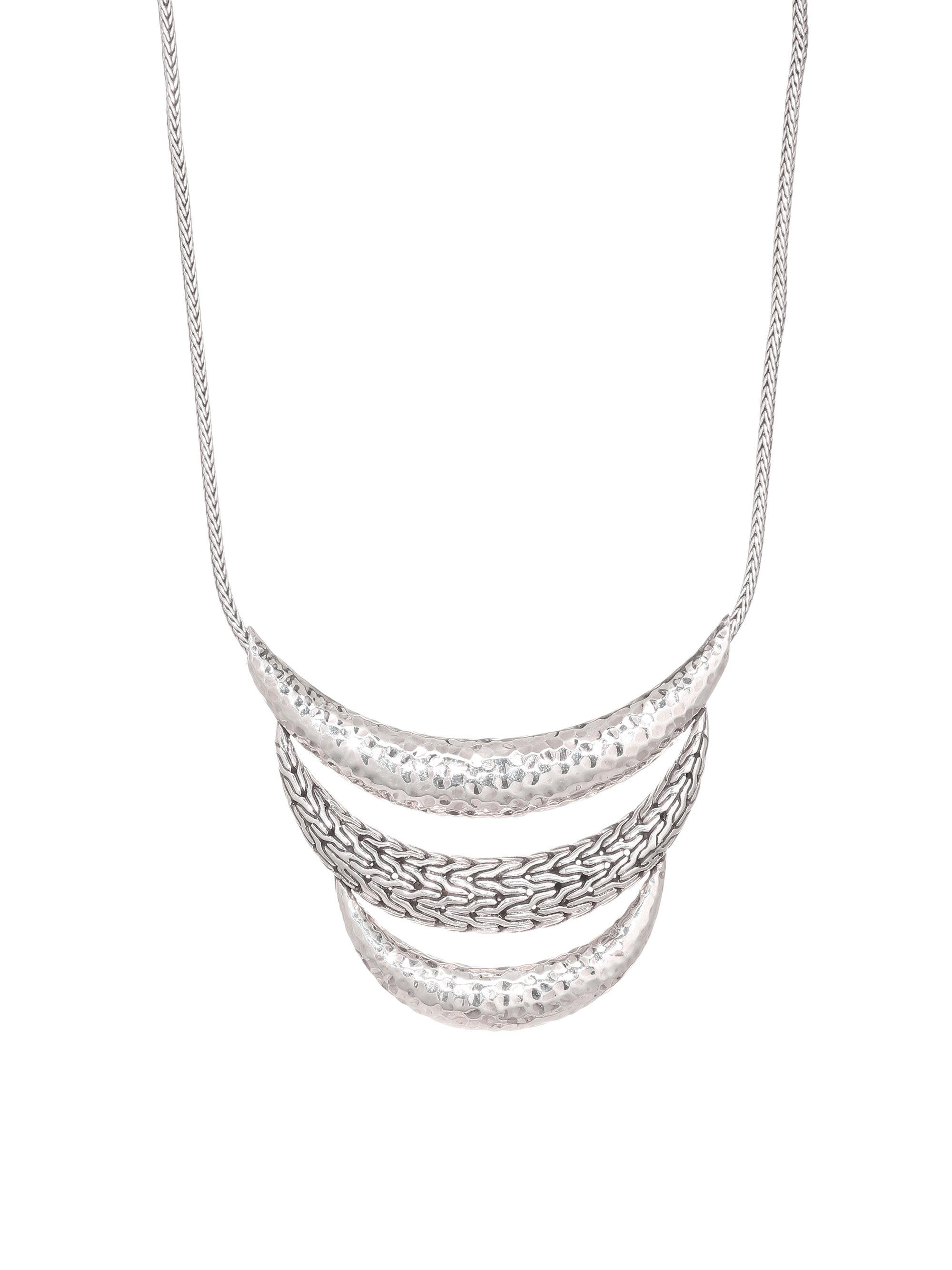 John Hardy Classic Chain Hammered Multi Row Necklace 8dyt1Flv1v