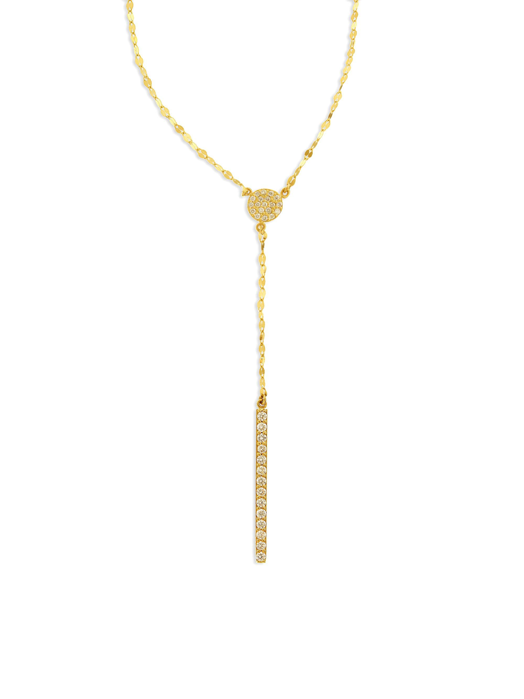 Lana Jewelry Mirage Diamond Lariat Necklace in 14K Rose Gold 3sps0E