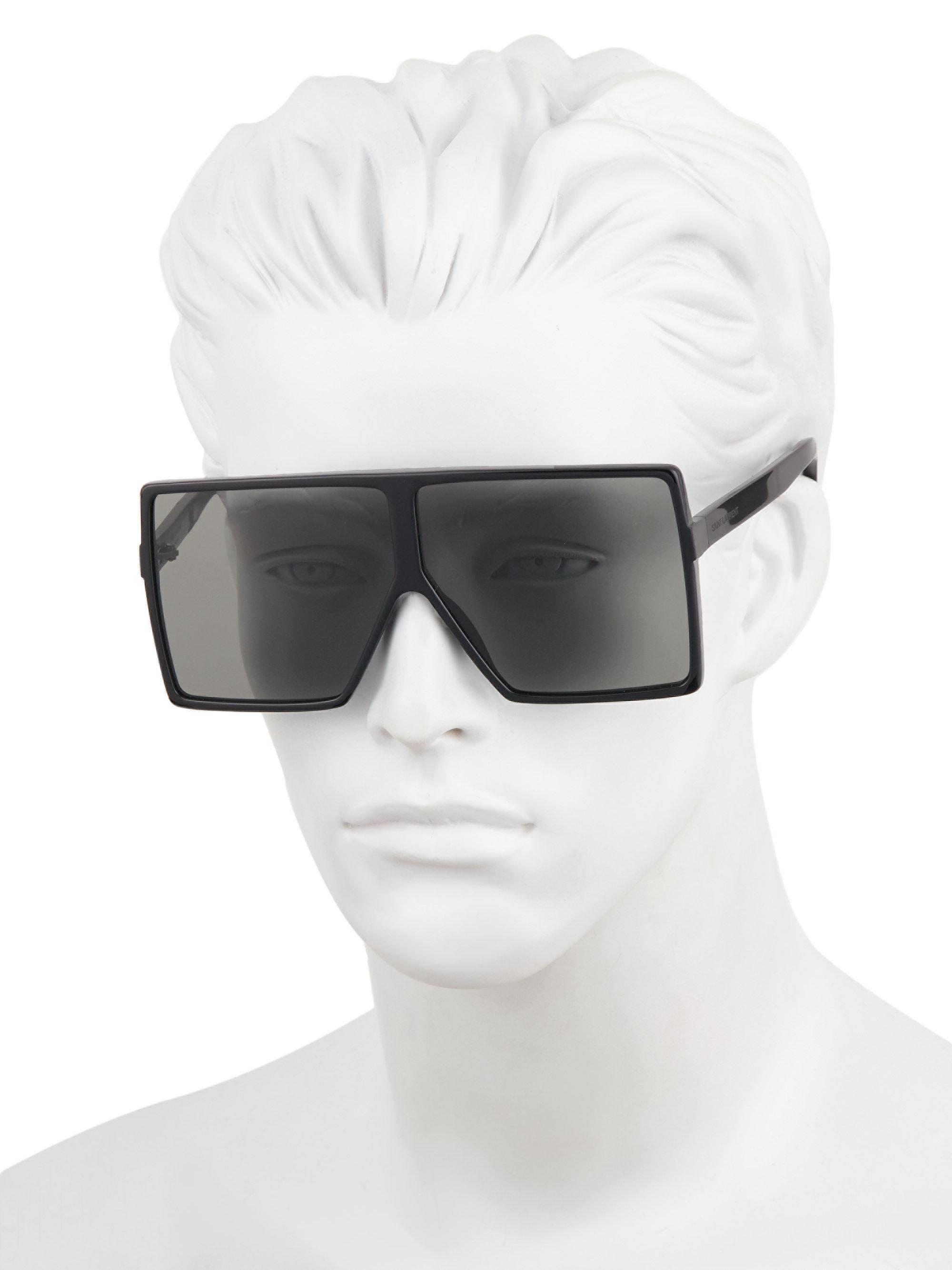e9e3b39cacc Saint Laurent - Black Betty 68mm Square Sunglasses for Men - Lyst. View  fullscreen