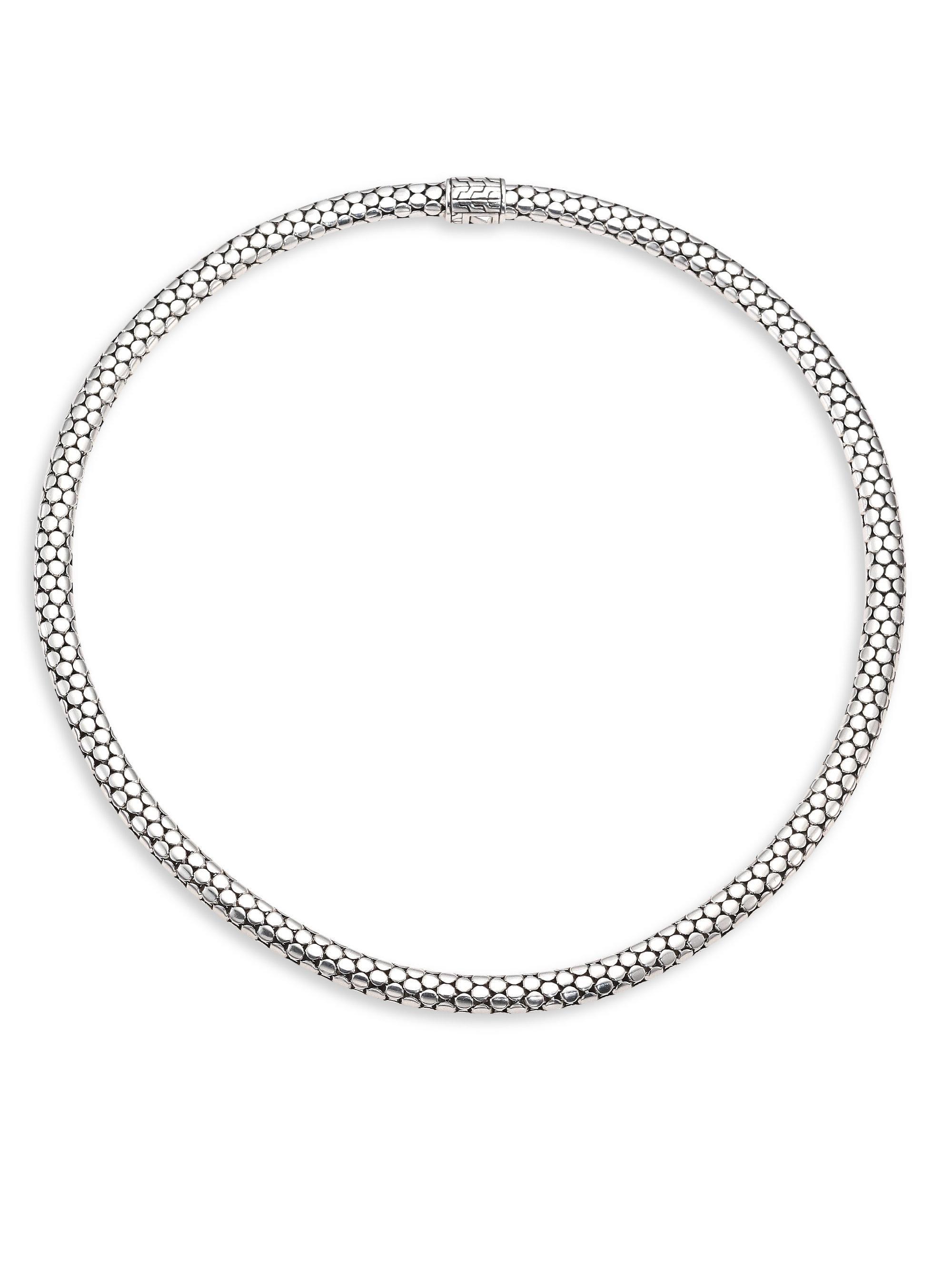 John Hardy Dot Tube Enhancer Chain Necklace ISjn2jl5Z