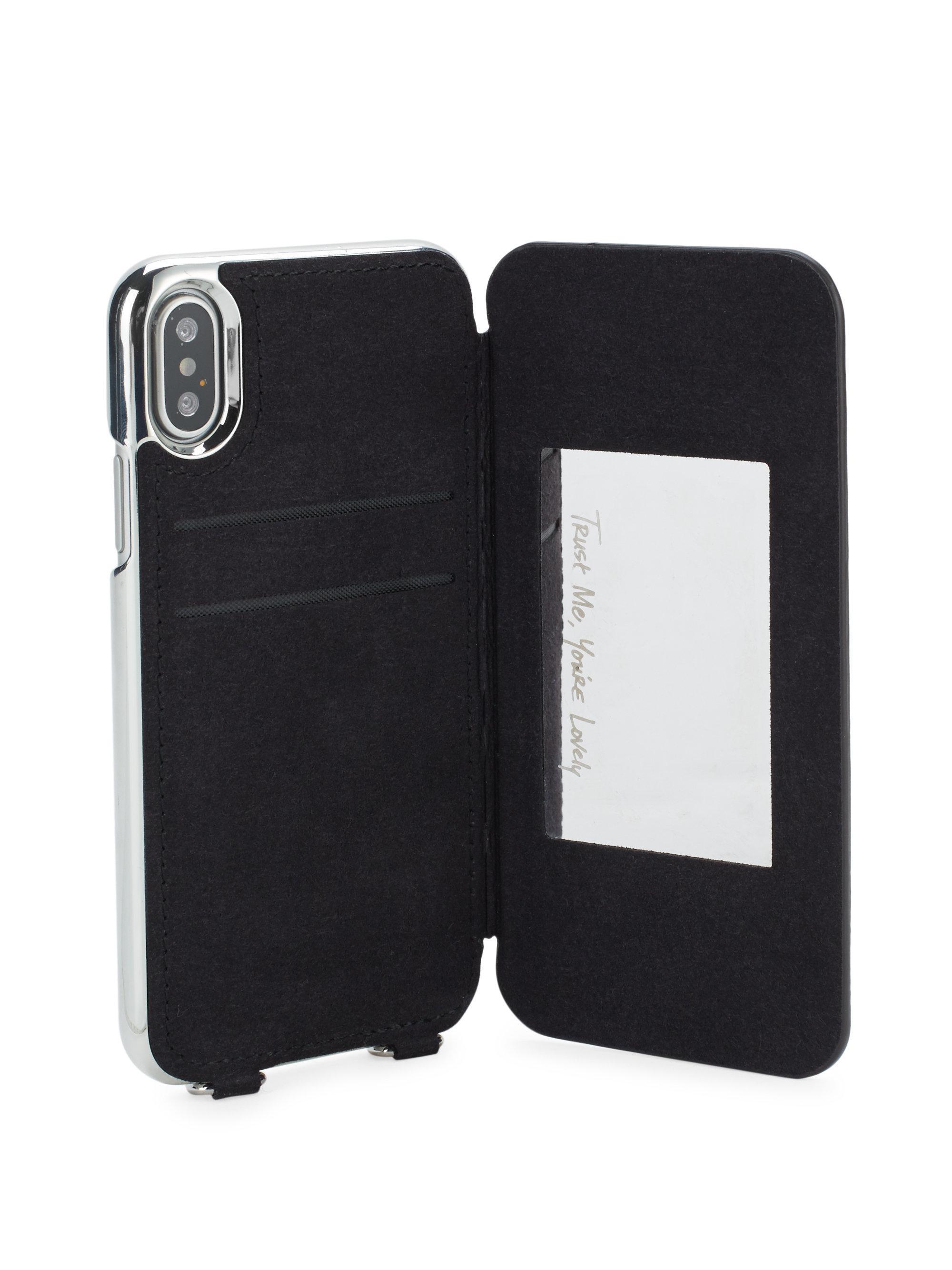 uk availability 2e6bf dab1a Rebecca Minkoff Pink Mirror Folio Crossbody Iphone X Case