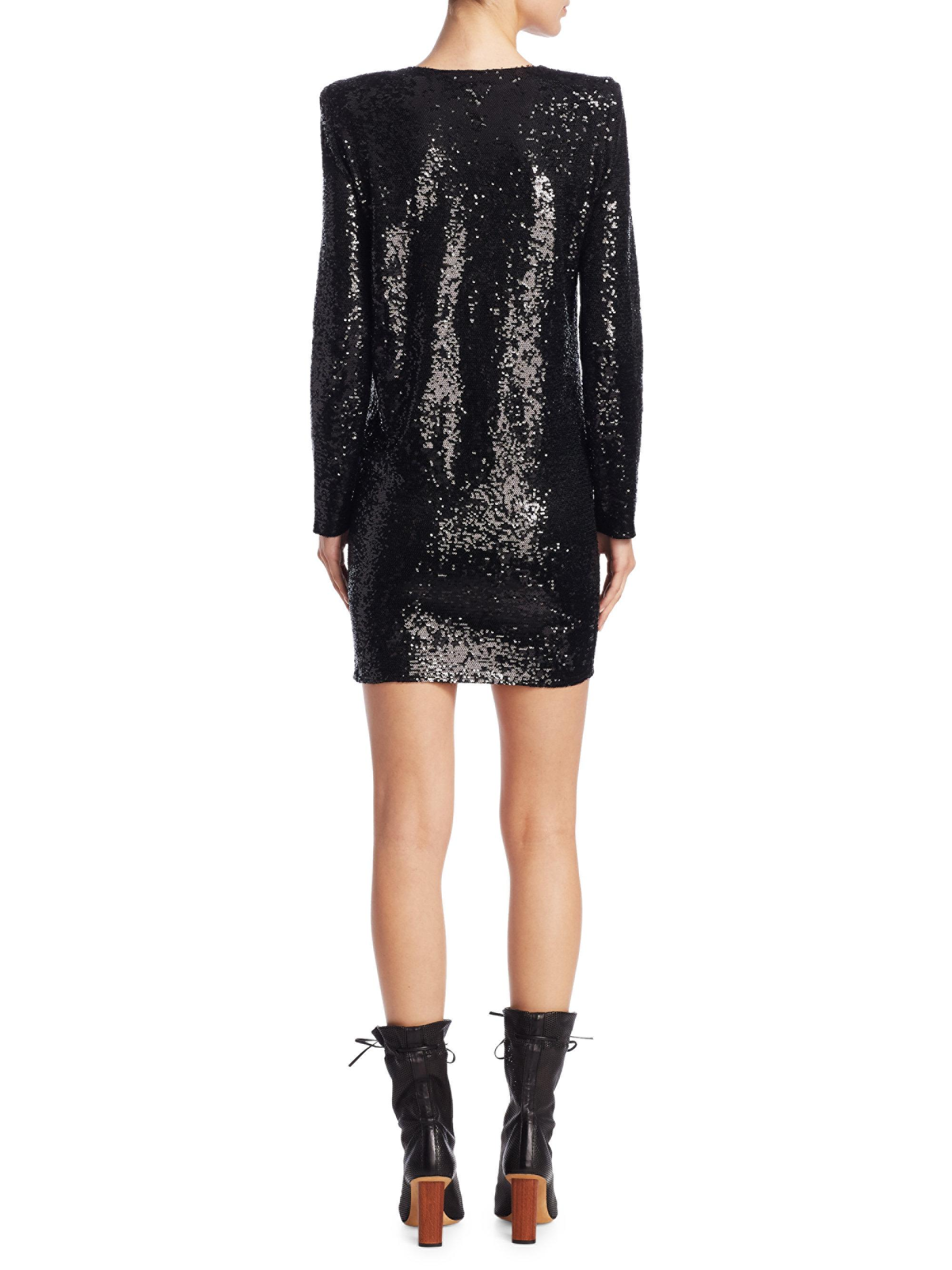Iro Nobila Sequin Dress In Black Lyst
