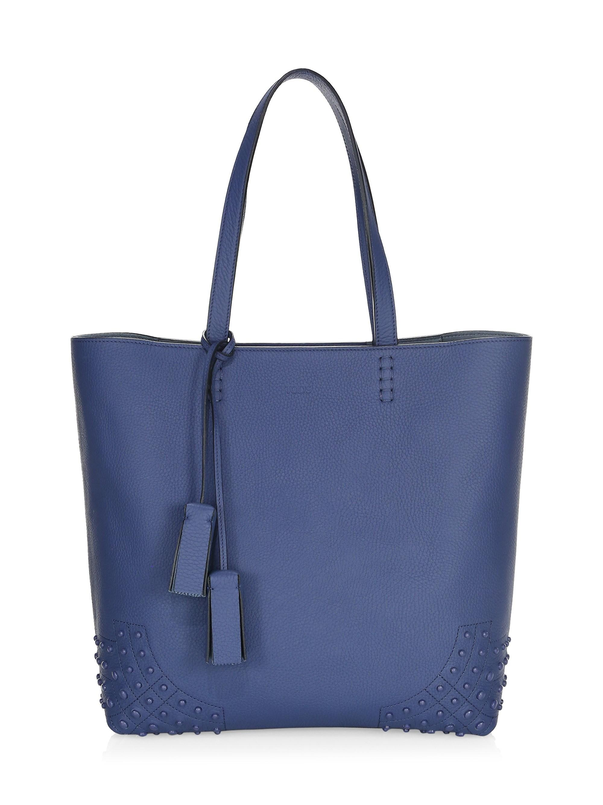 713267c1c00f Lyst - Tod s Women s Gommino Leather Stud Tote - Orange in Blue