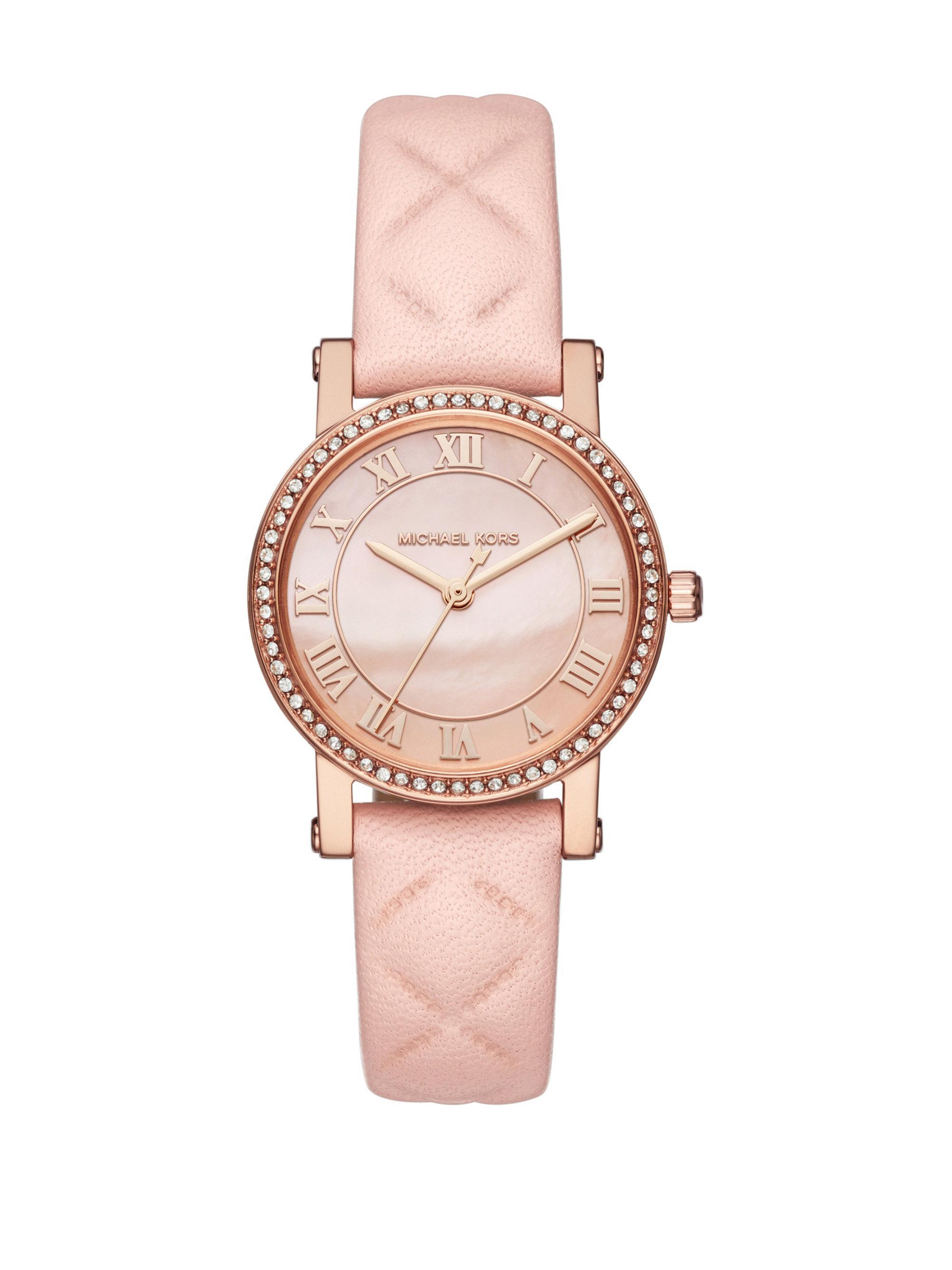 748fd038d04e Michael Kors - Multicolor Petite Norie Leather Strap Watch - Lyst. View  fullscreen