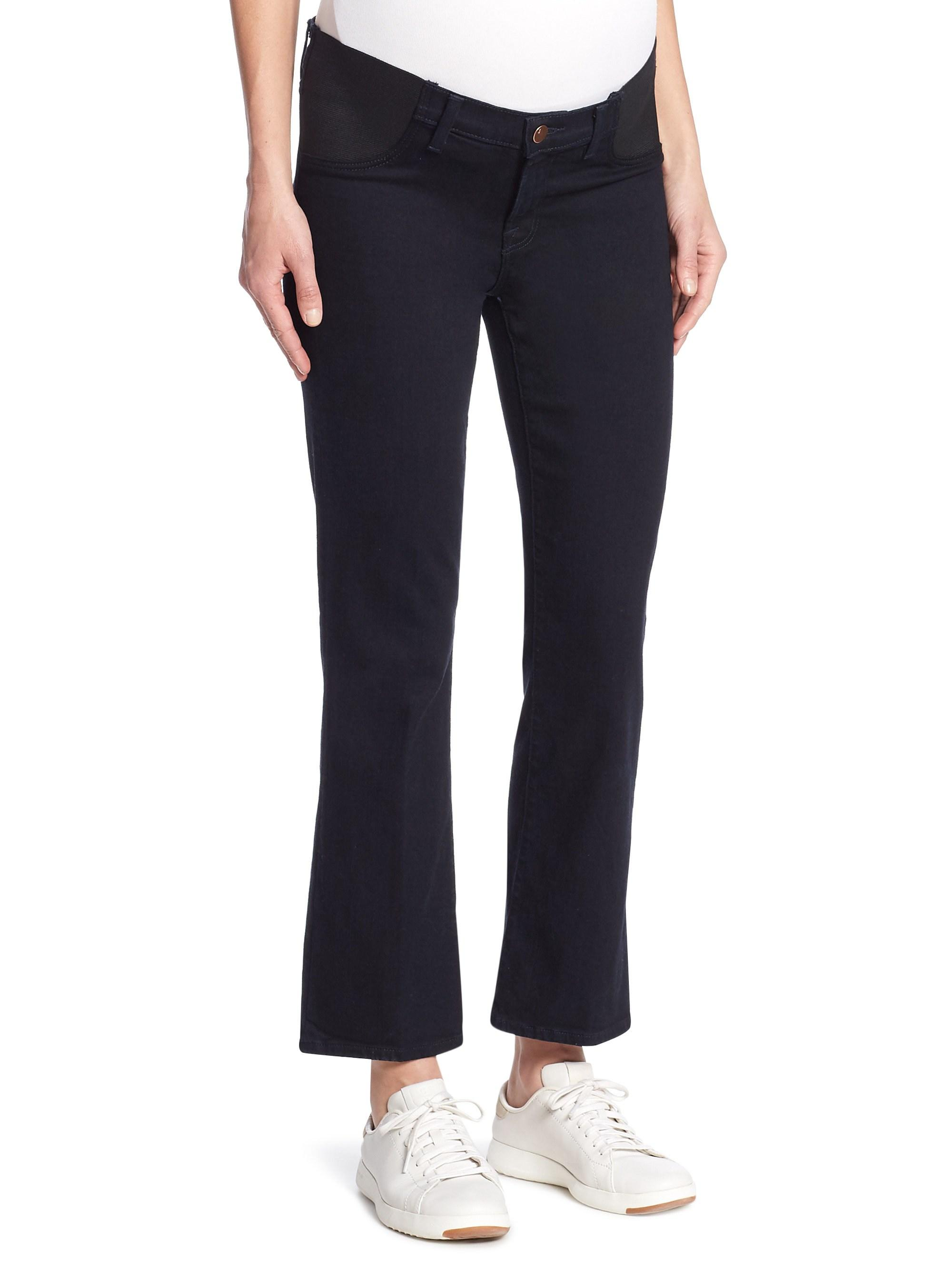 5e7cd0353f96 Lyst - J Brand Women s Mama J Selena Cropped Bootcut Maternity Jeans ...