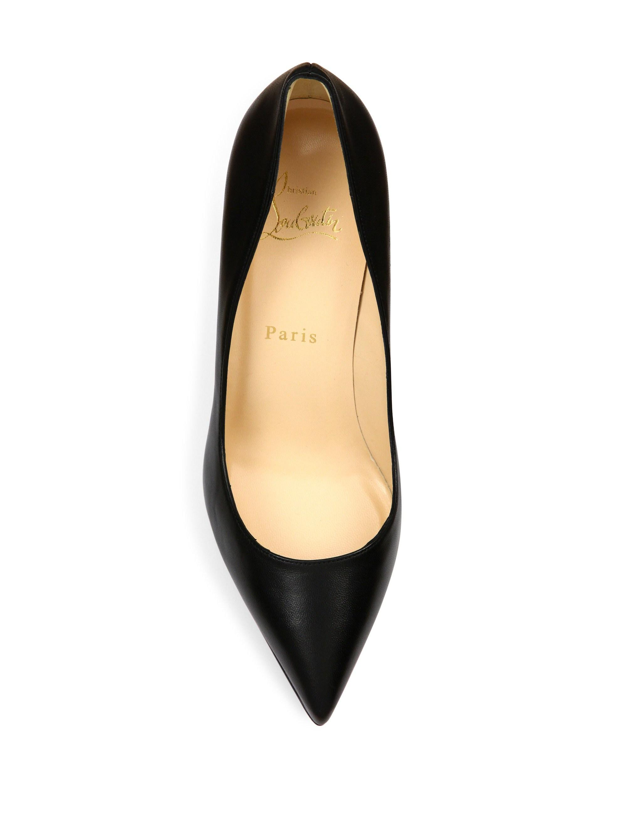 Lyst - Christian Louboutin Women s Pigalle Plato 100 Leather Point ... ddb0161ca