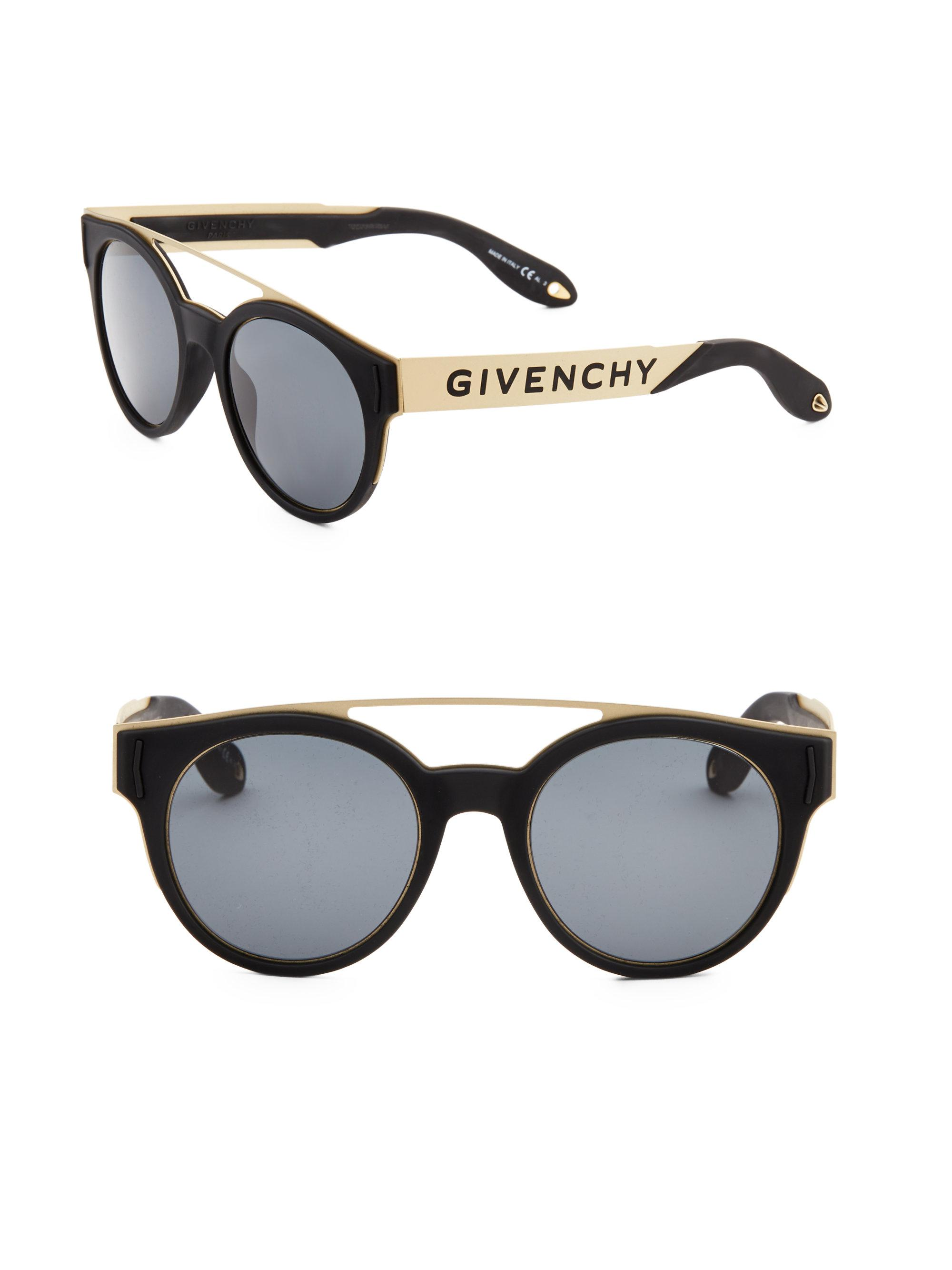 Givenchy 52mm Tinted Aviator Frame in Black