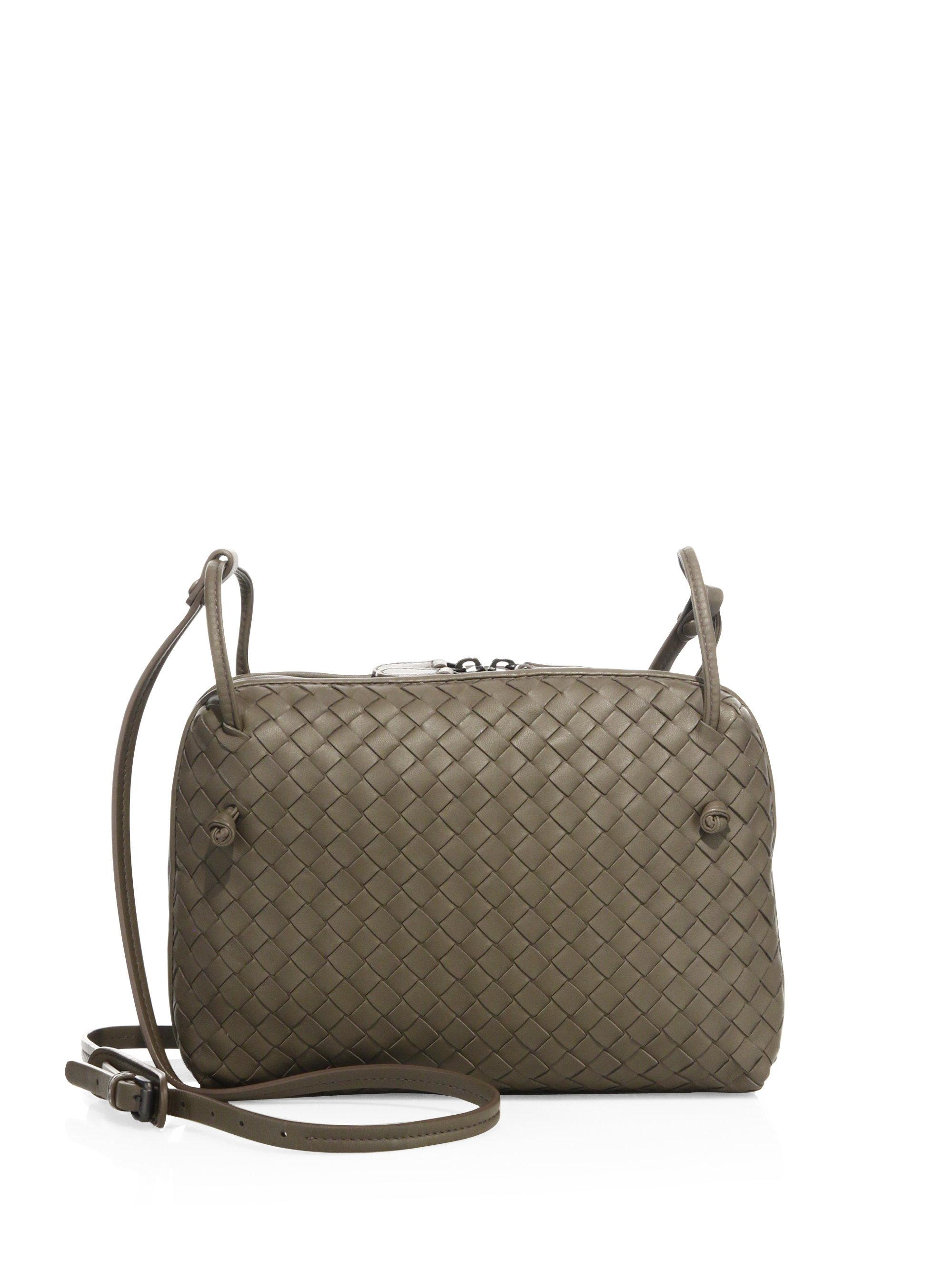 3dbfe3835e61 Bottega Veneta Intrecciato Leather Double-zip Pillow Bag - Lyst