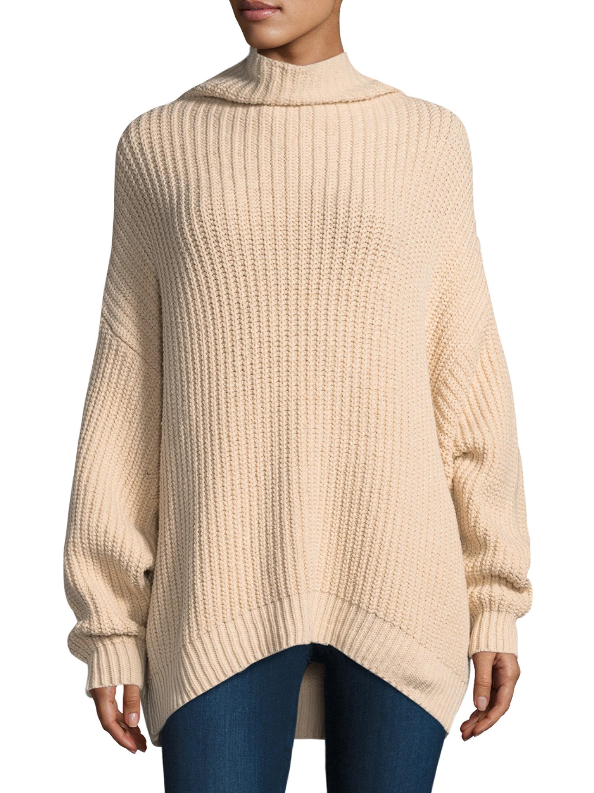 Lyst Free People Swim Too Deep Turtleneck Sweater In White