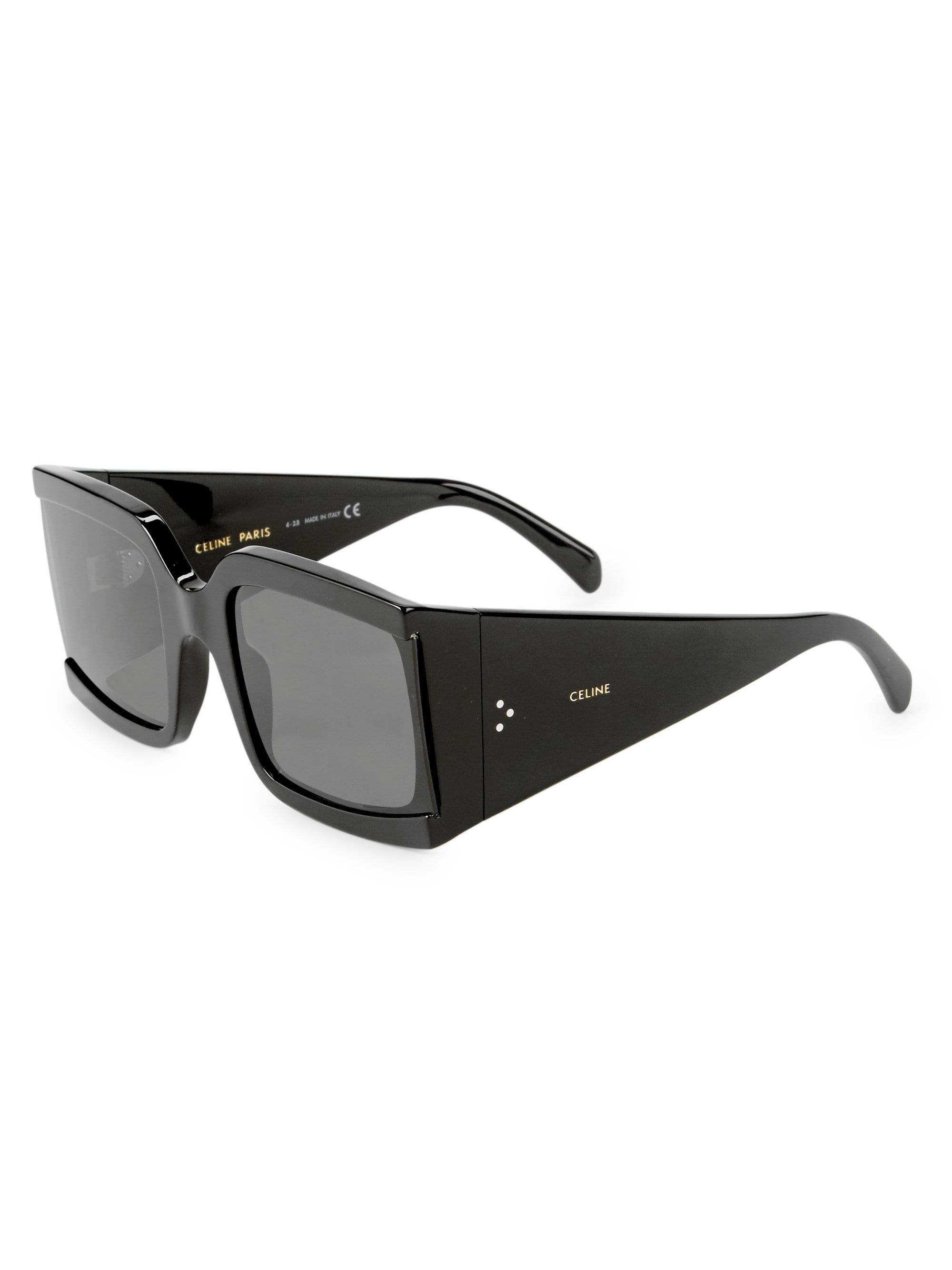 064136cf7d20 Céline - Black 60mm Square Sunglasses - Lyst. View fullscreen