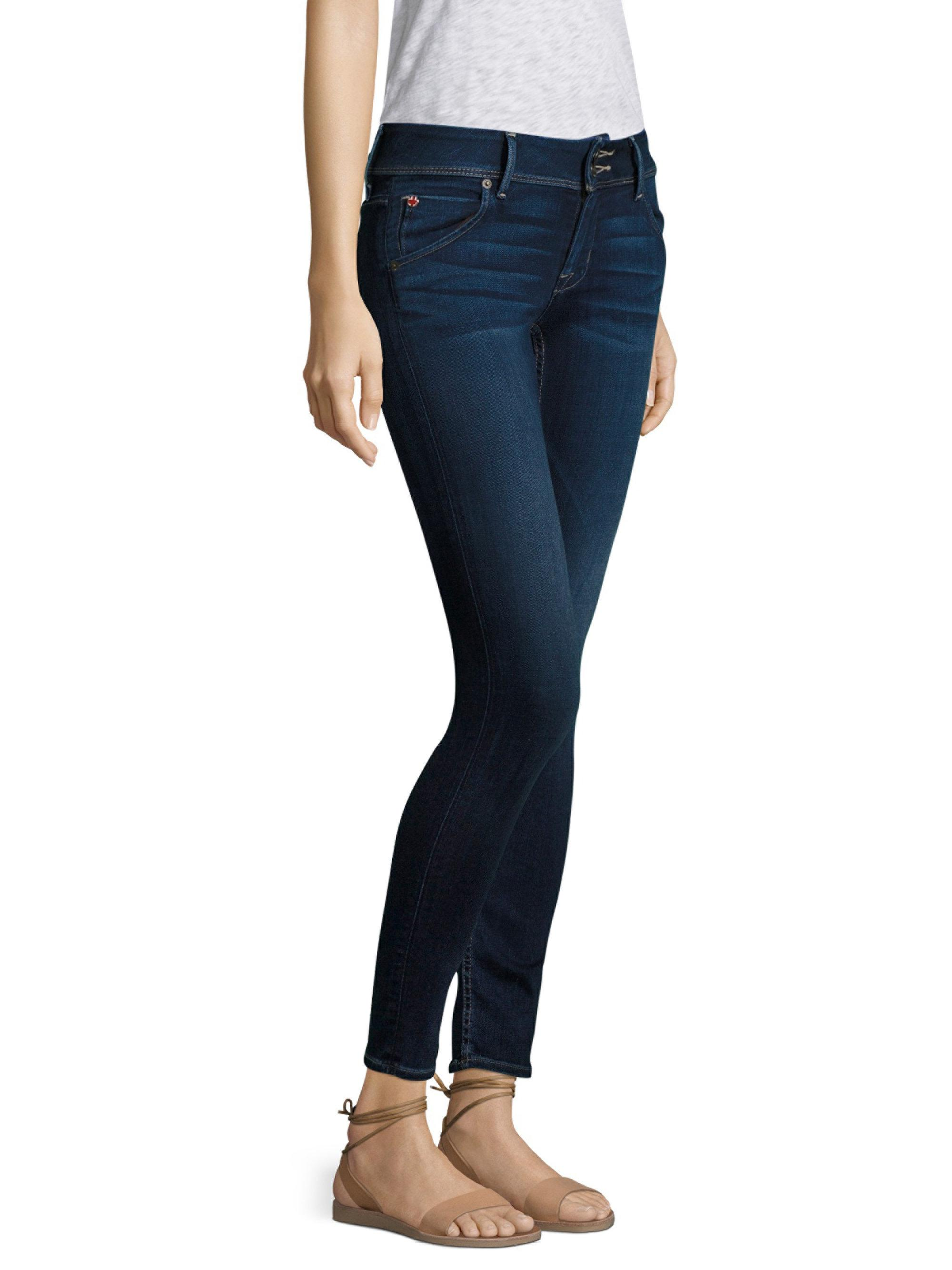 Hudson Womens Tall Collin Supermodel-Length Skinny Jean In Black